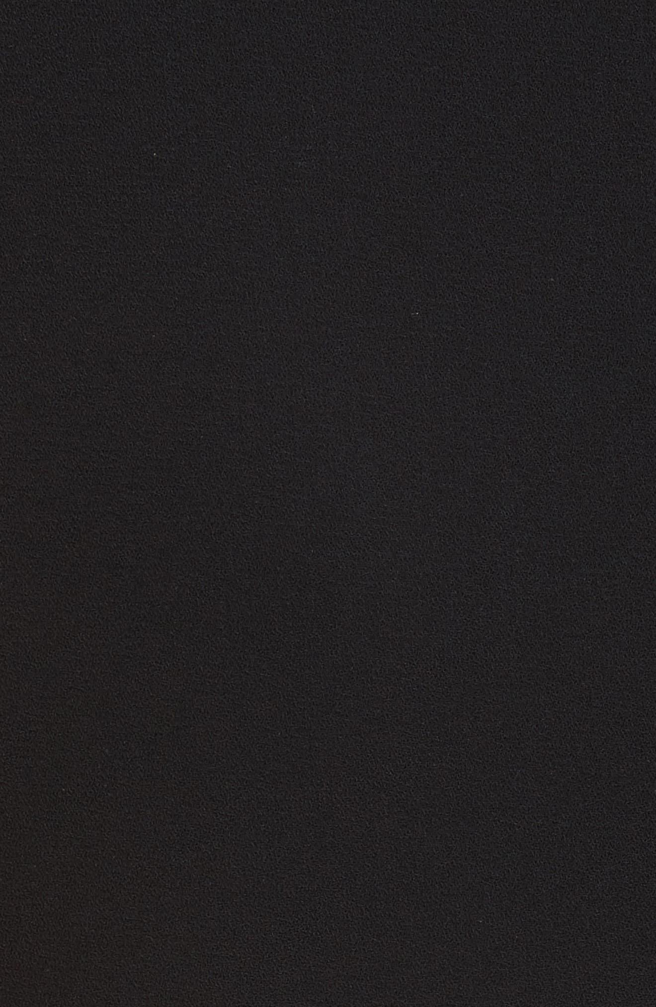 Julieta Inverted Pleat Fit & Flare Dress,                             Alternate thumbnail 5, color,                             Black