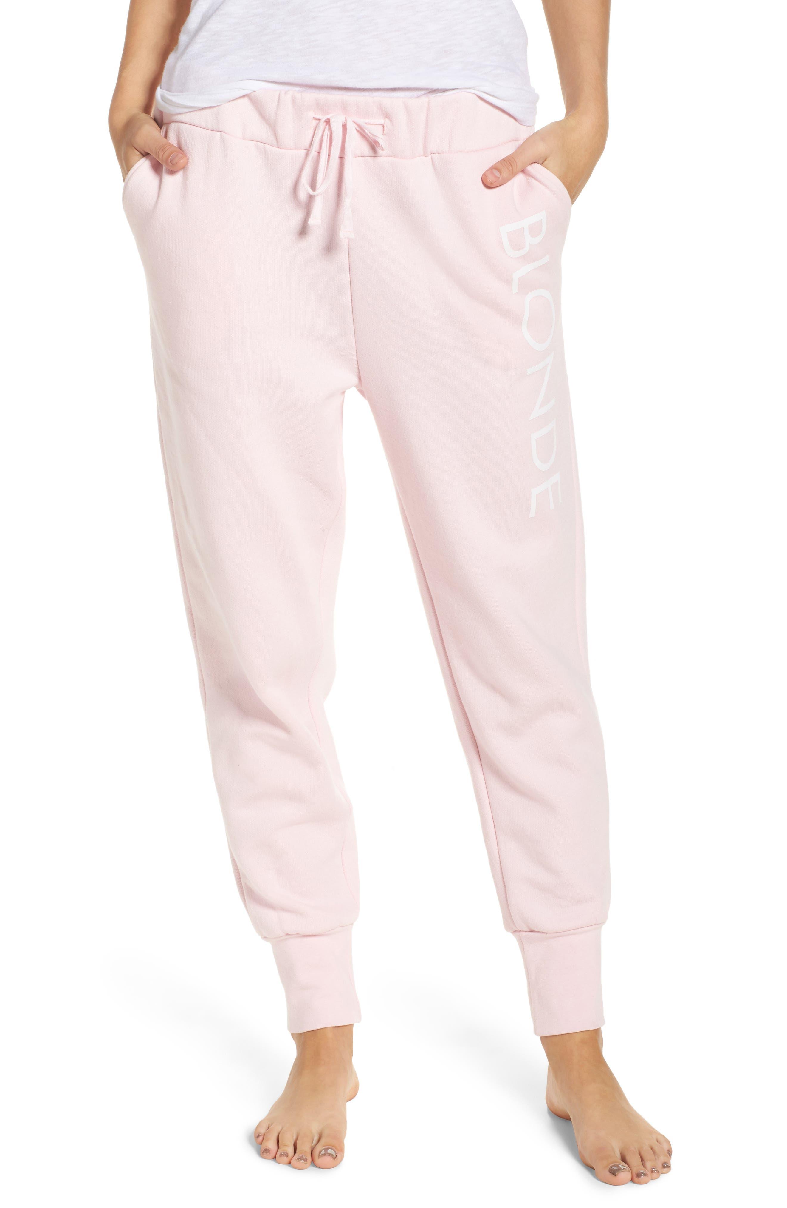 Blonde Jogger Pants,                             Main thumbnail 1, color,                             Pink