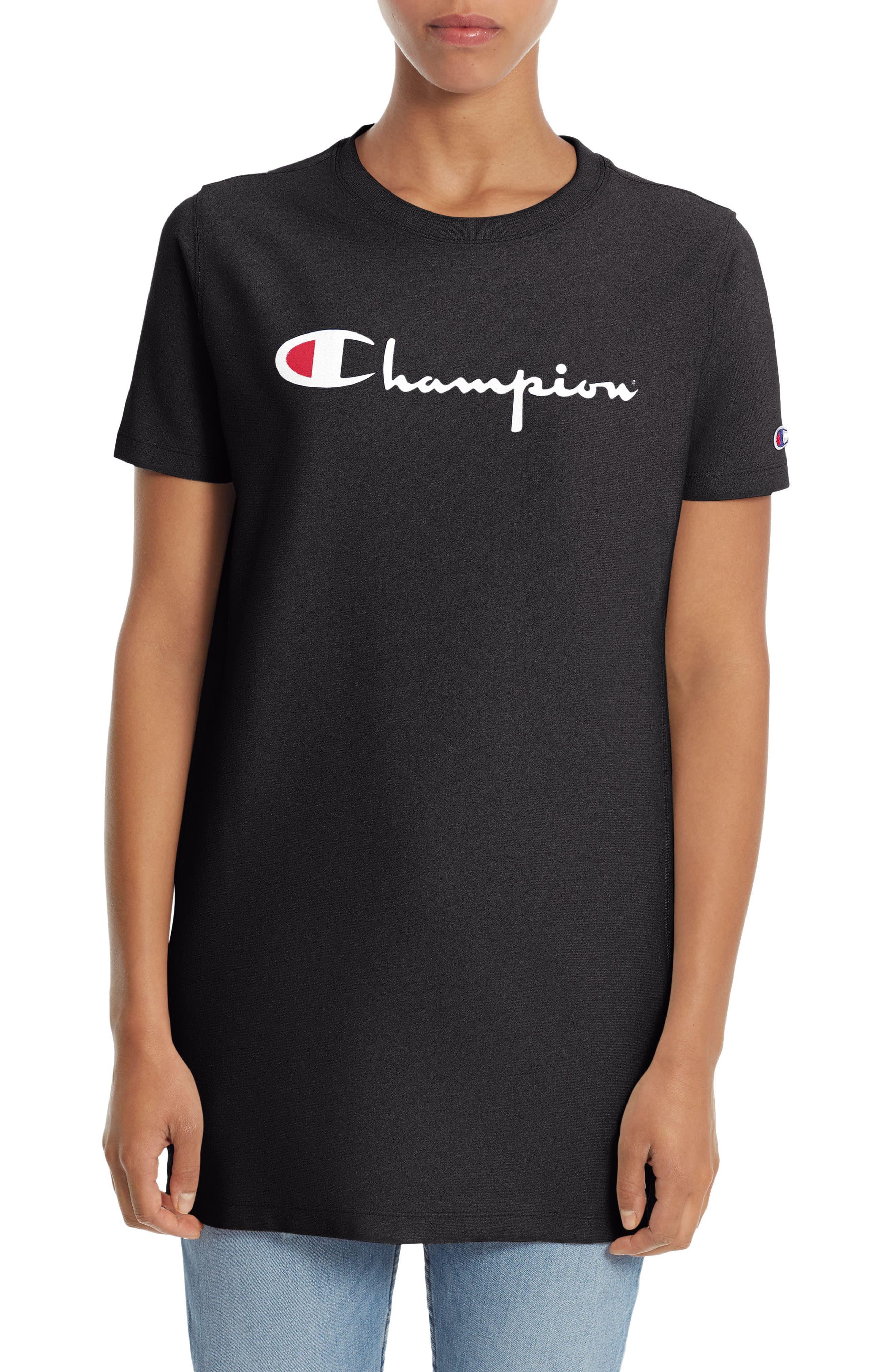 Champion Logo Print Longline Tee