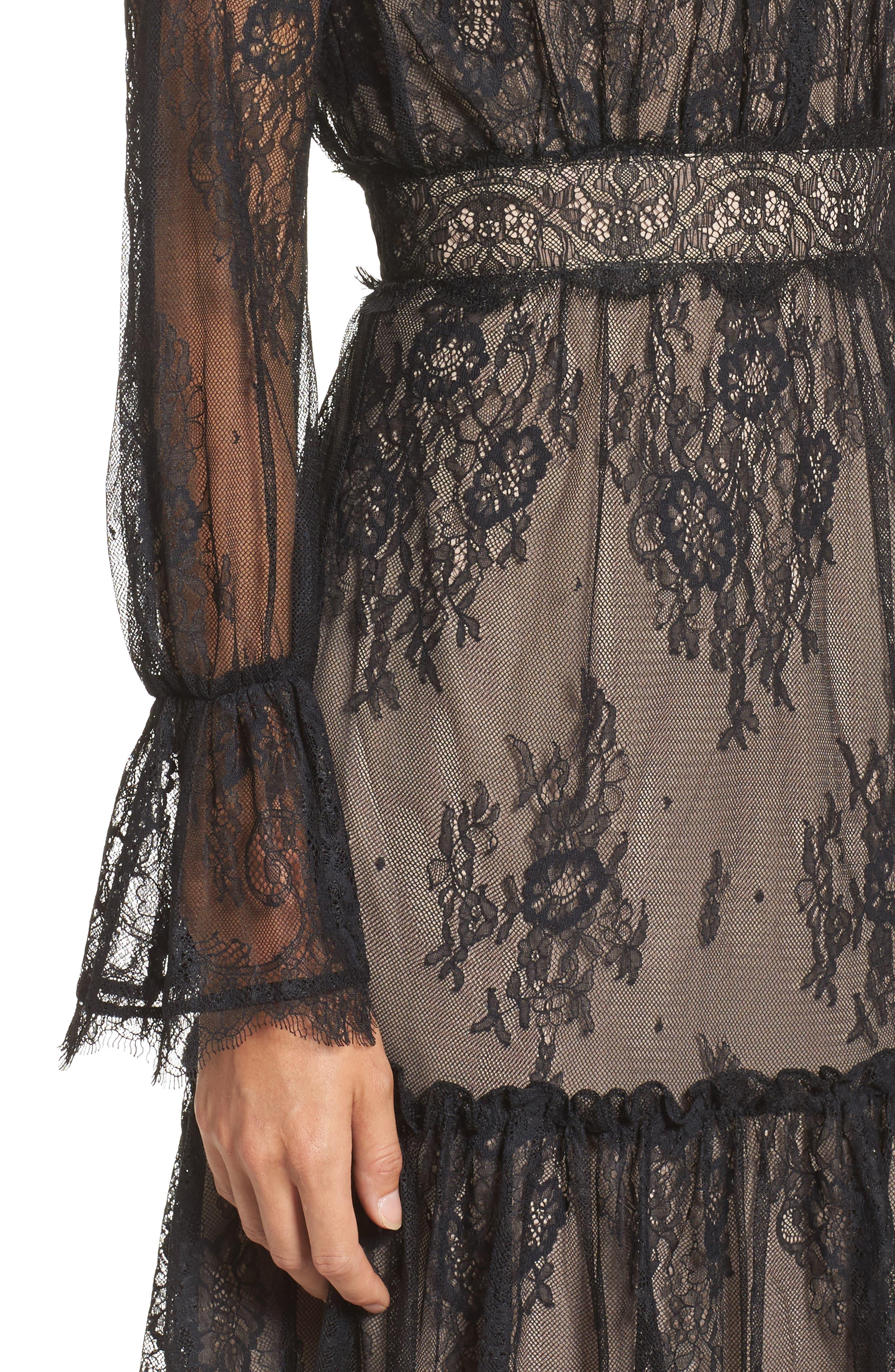 Alternate Image 4  - Shoshanna Floral Medallion Lace Fit & Flare Dress