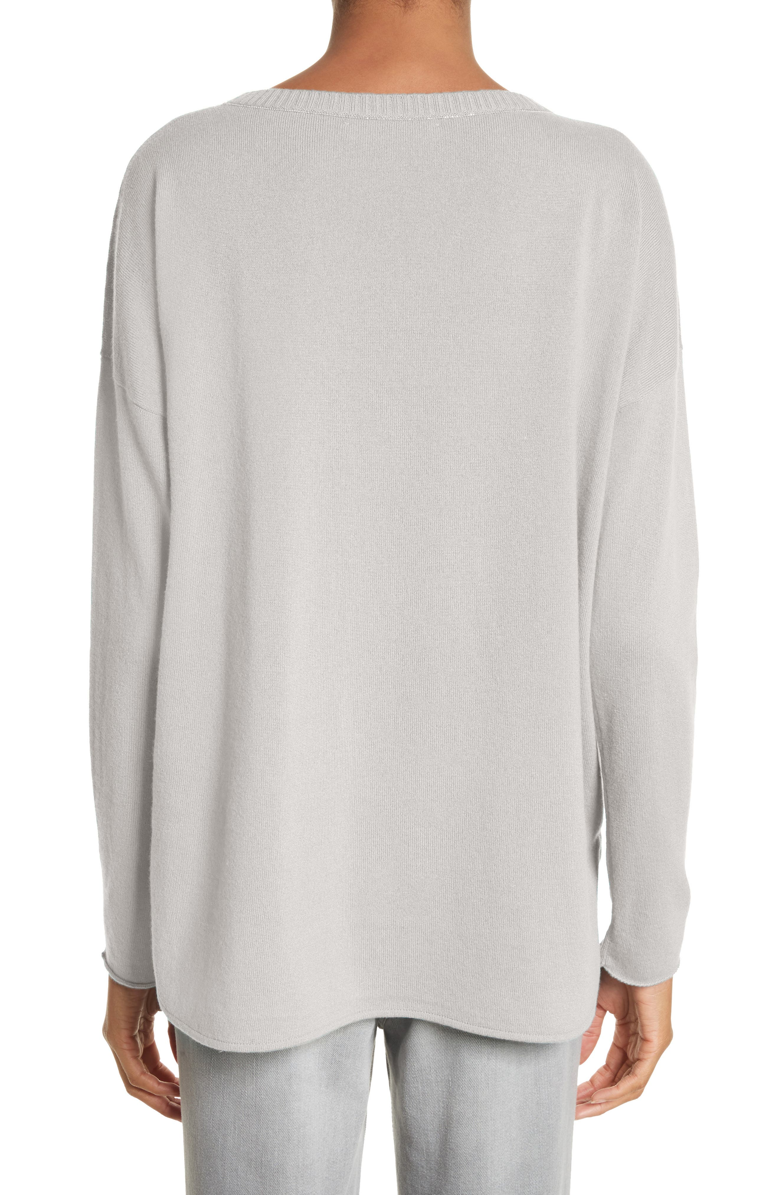 Beaded Cashmere Sweater,                             Alternate thumbnail 2, color,                             Grey