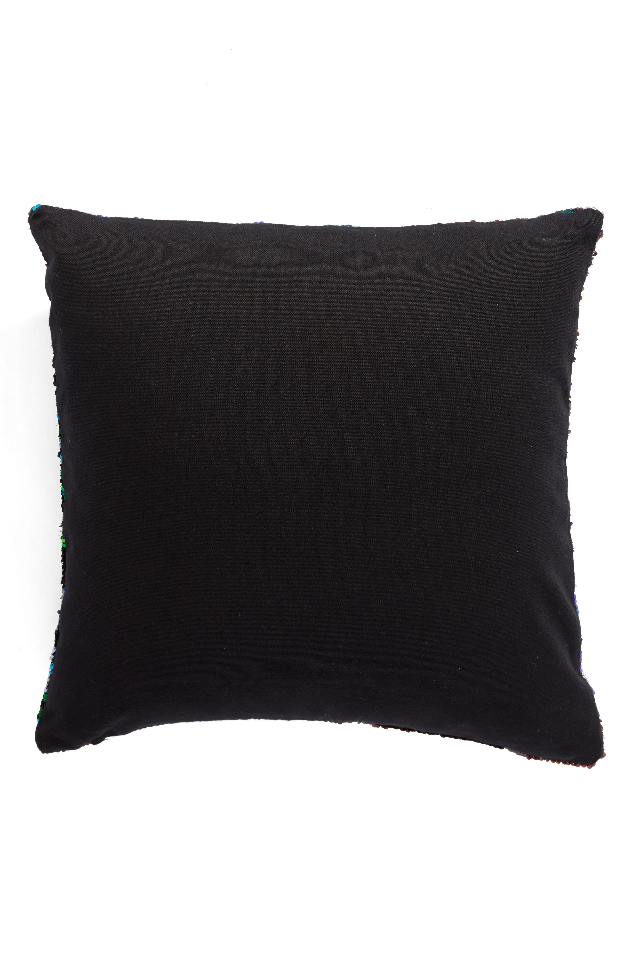 Sequin Pillow,                             Alternate thumbnail 4, color,                             Black