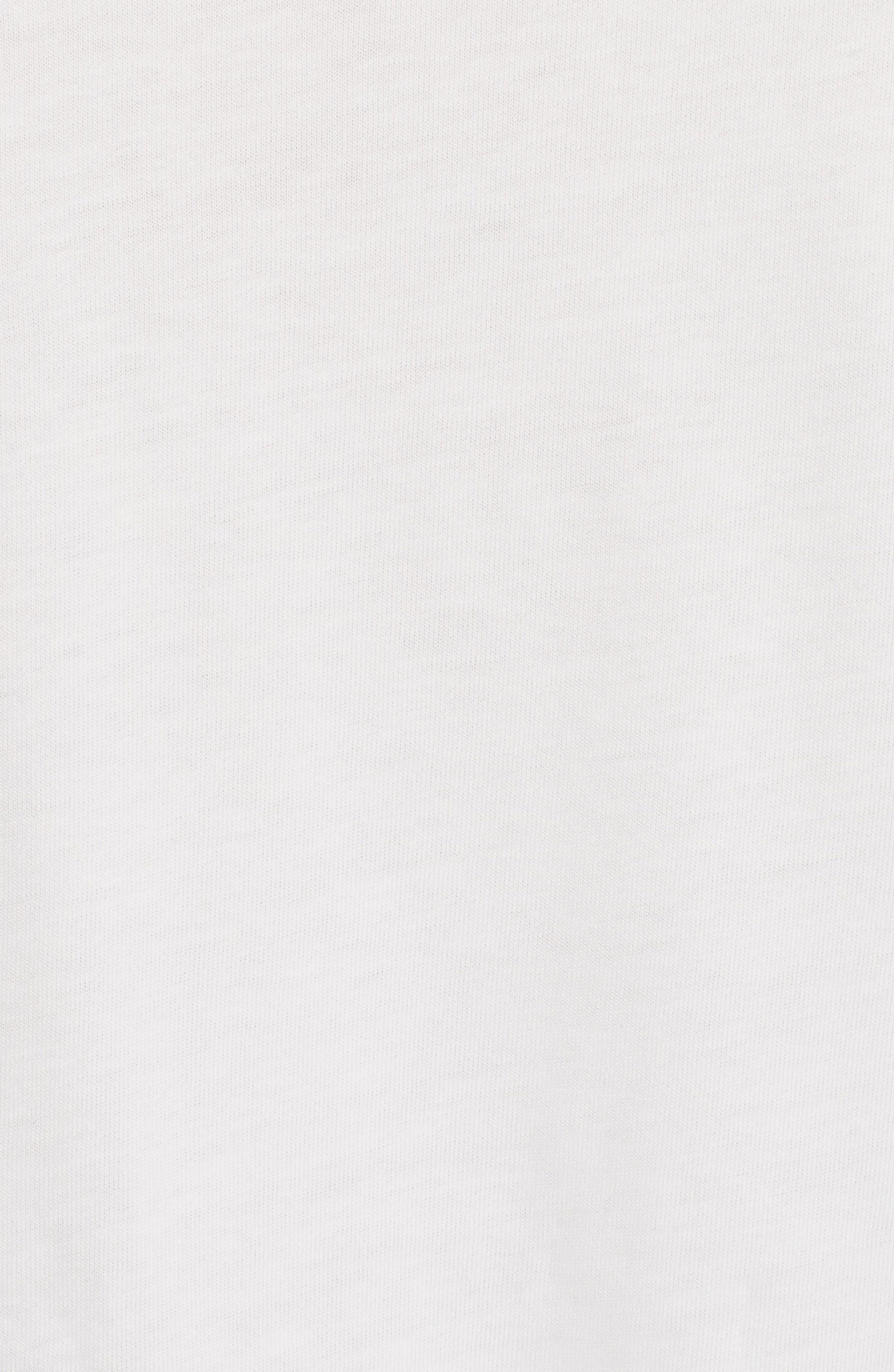 Lace Trim Tee,                             Alternate thumbnail 5, color,                             White Powder