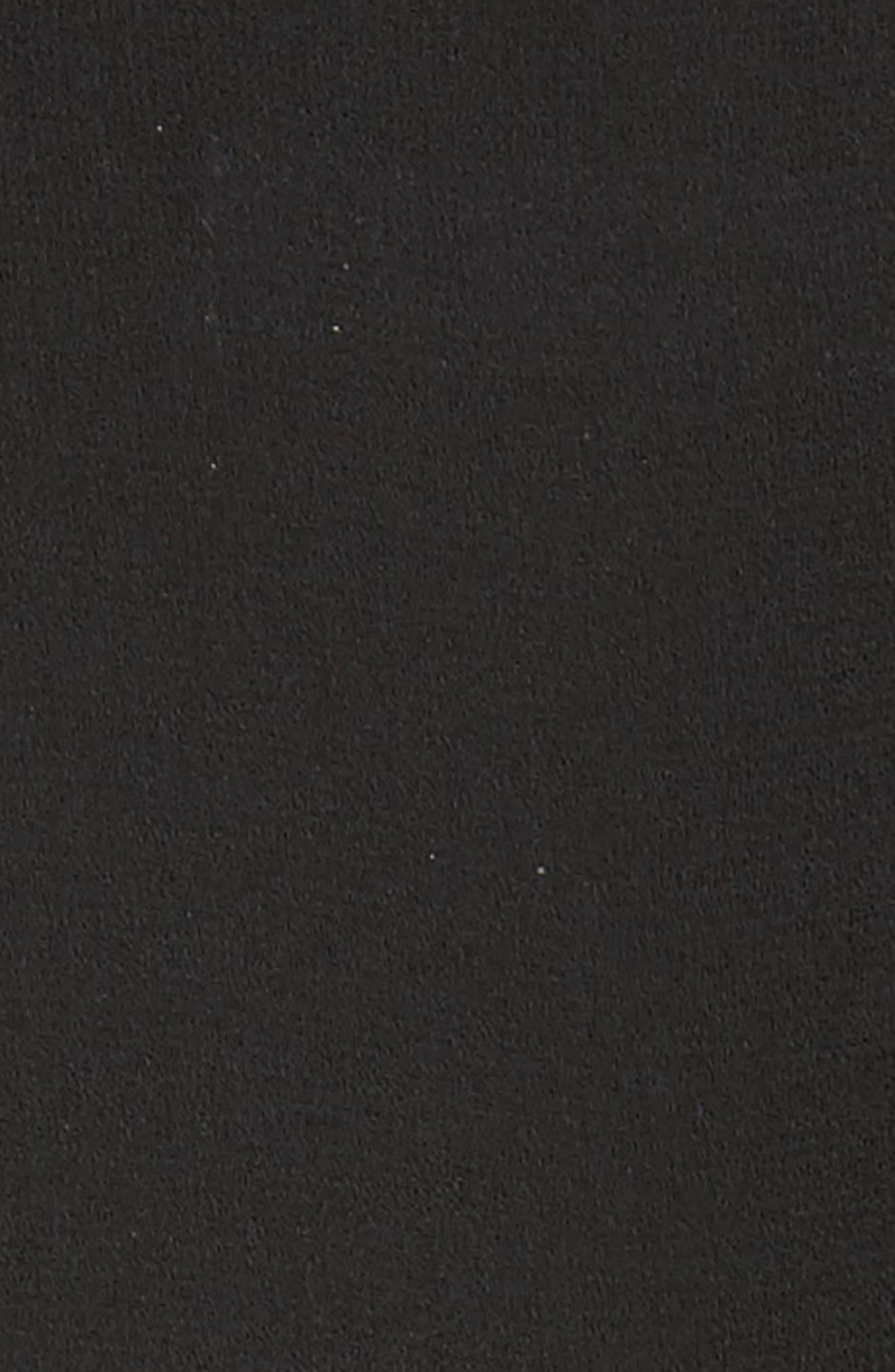 Sheer Pleated Blouse,                             Alternate thumbnail 5, color,                             Noir