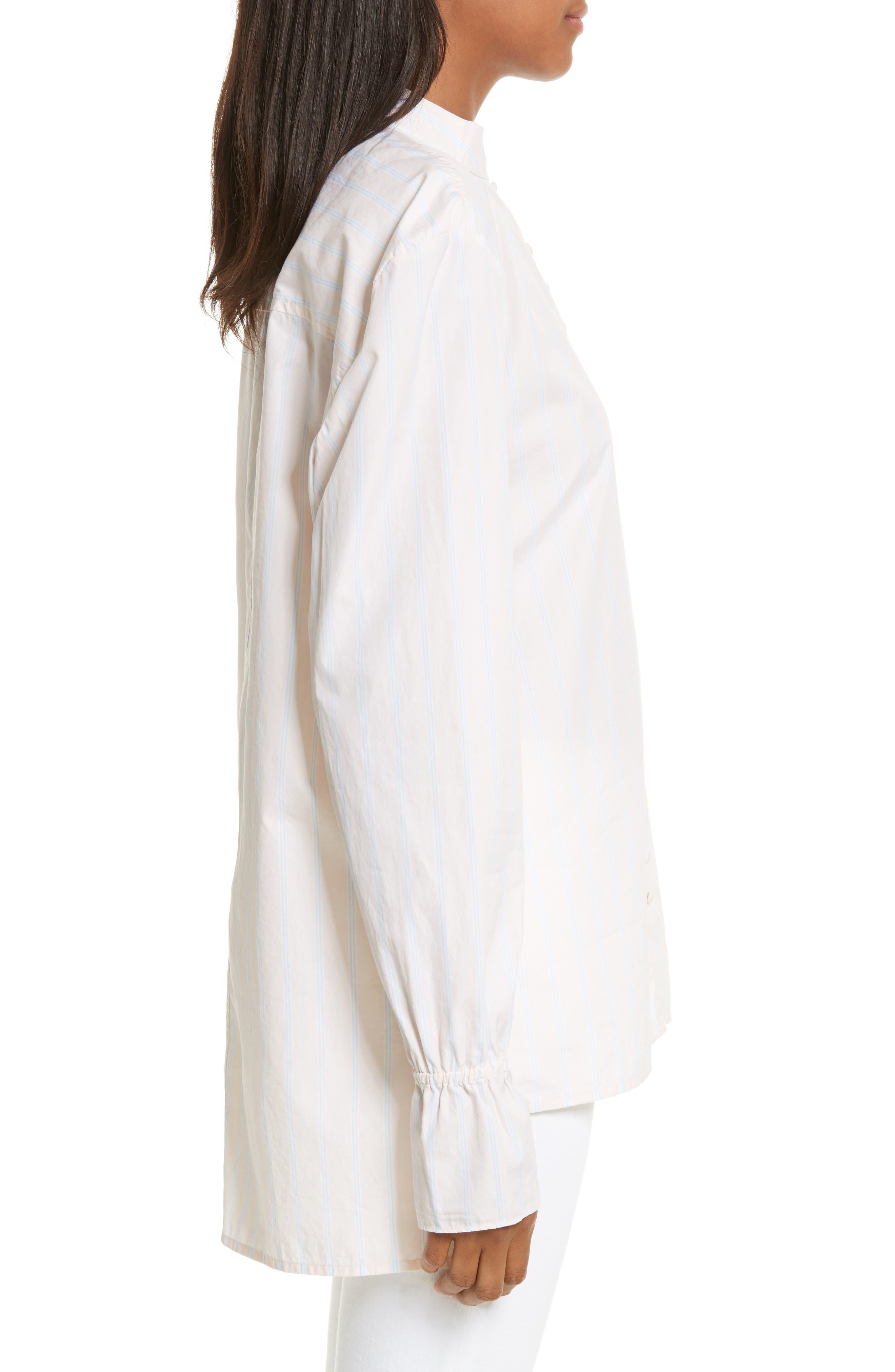 Alternate Image 3  - FRAME Ruffle Cuff Cotton Shirt