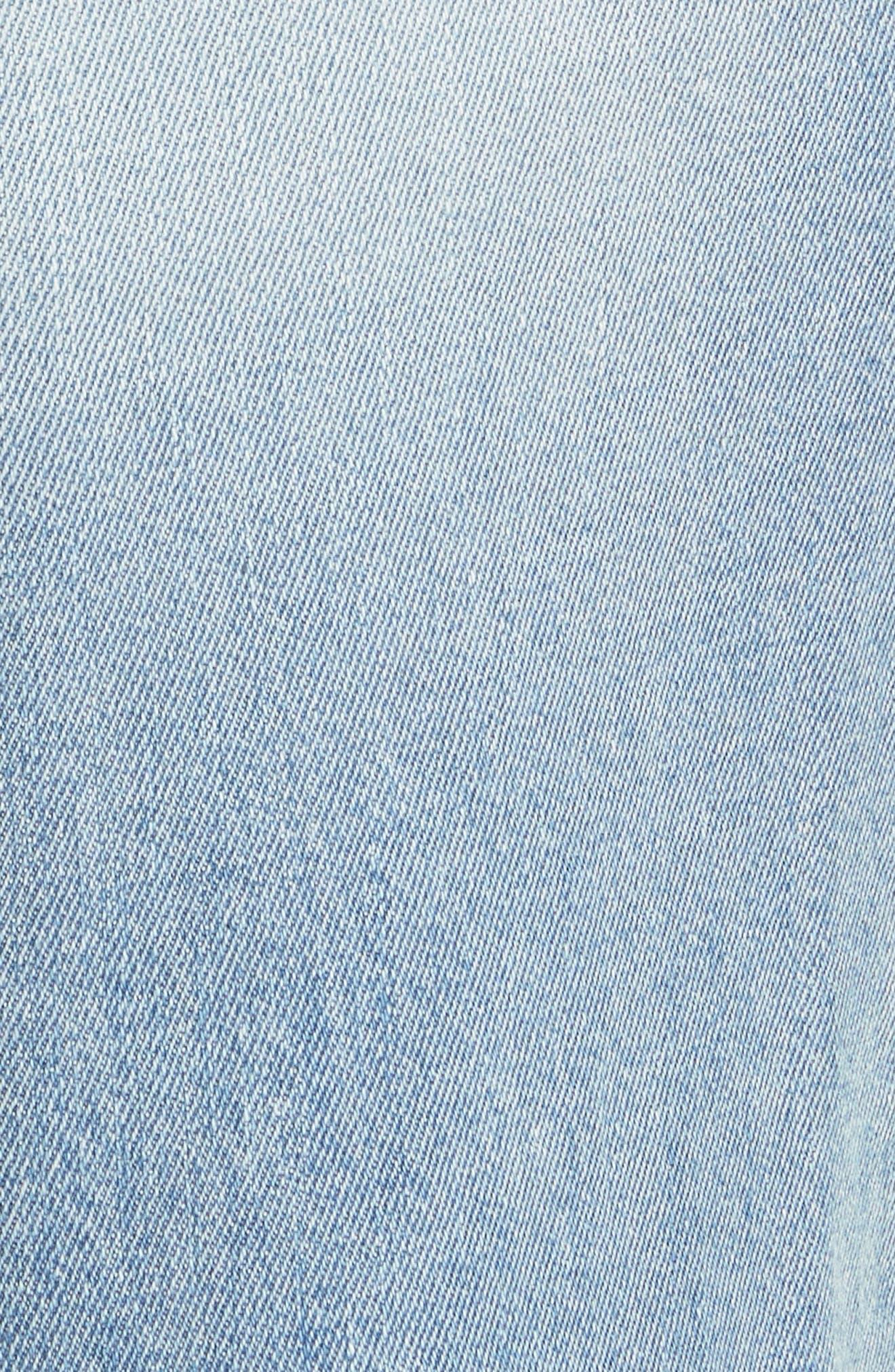 Le Reconstructed High Waist Crop Wide Leg Jeans,                             Alternate thumbnail 6, color,                             Blue