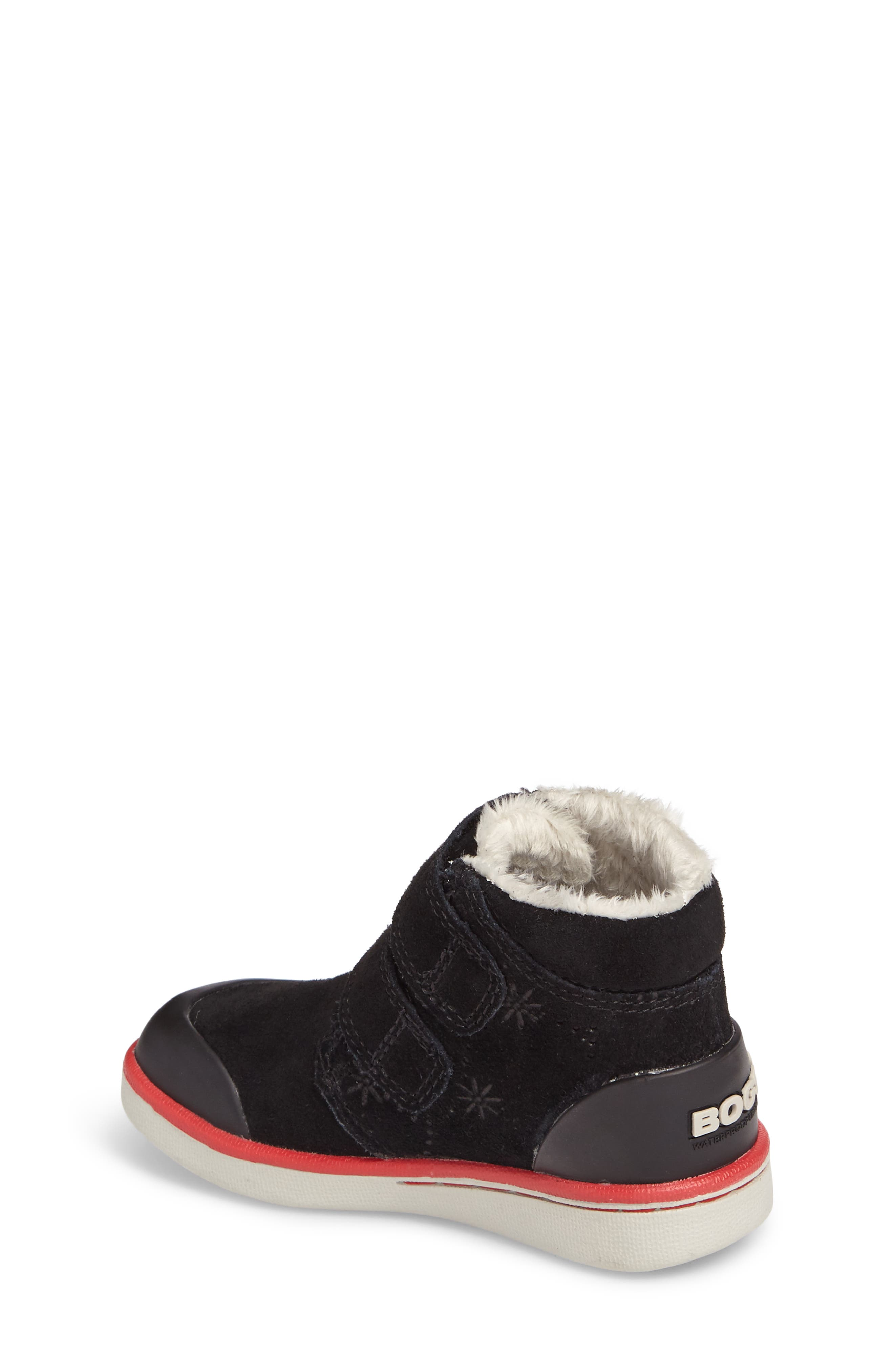 Samantha Faux Fur Waterproof Boot,                             Alternate thumbnail 2, color,                             Black/ Black