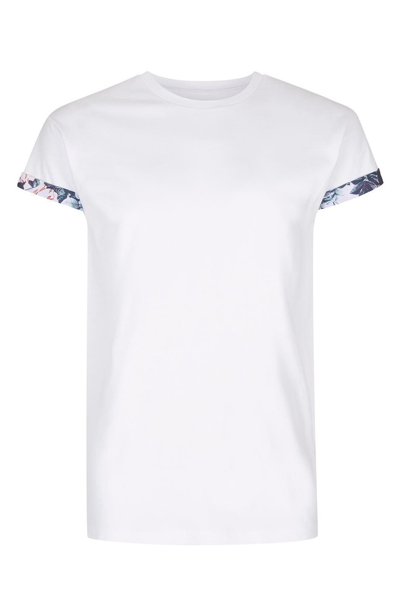 Floral Roller T-Shirt,                             Alternate thumbnail 4, color,                             White
