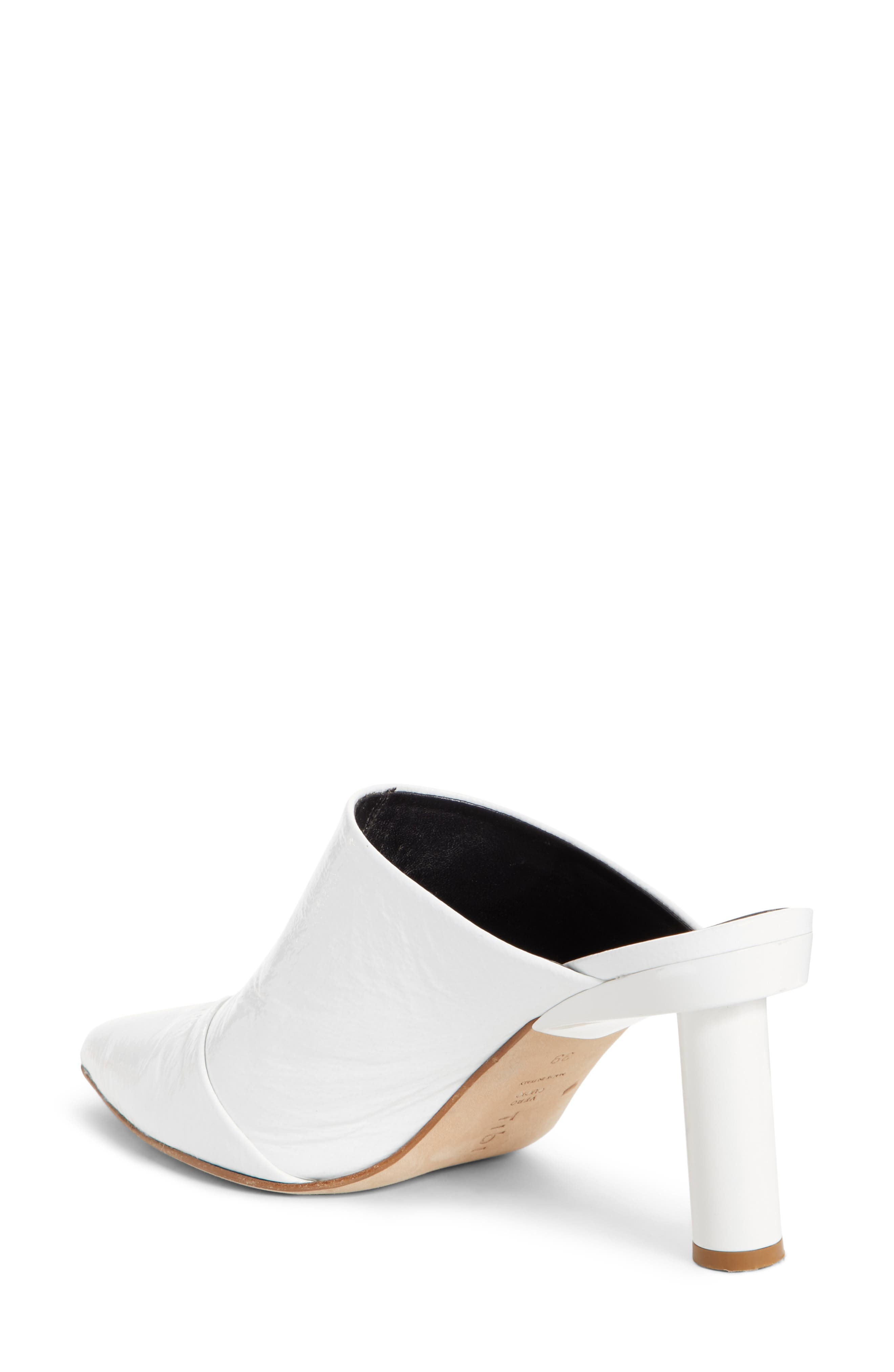 Liam Pointy Toe Mule,                             Alternate thumbnail 2, color,                             Bright White