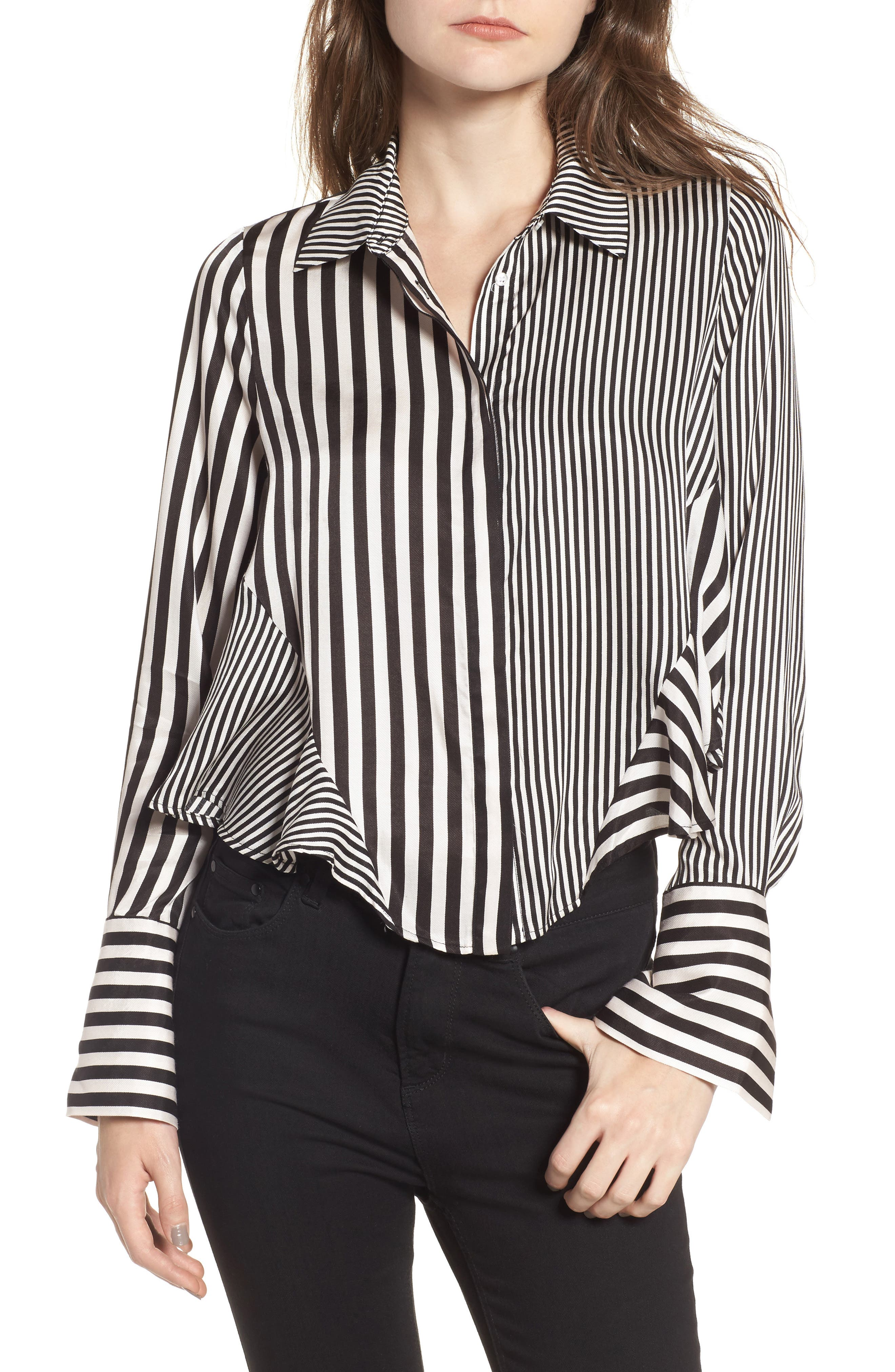 Alternate Image 1 Selected - AFRM Asher Crop Shirt