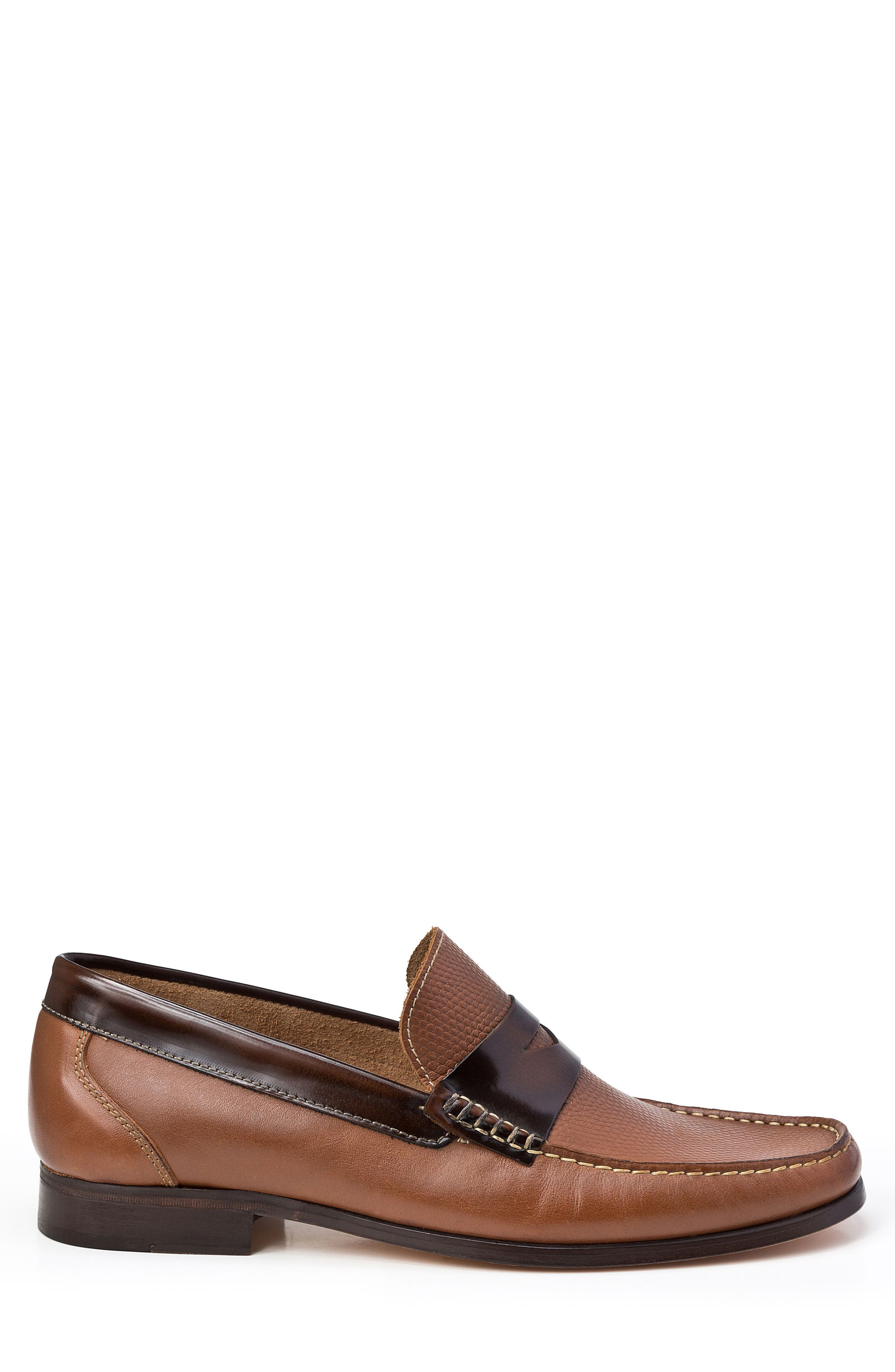 Bilbao Pebble Embossed Penny Loafer,                             Alternate thumbnail 3, color,                             Tan