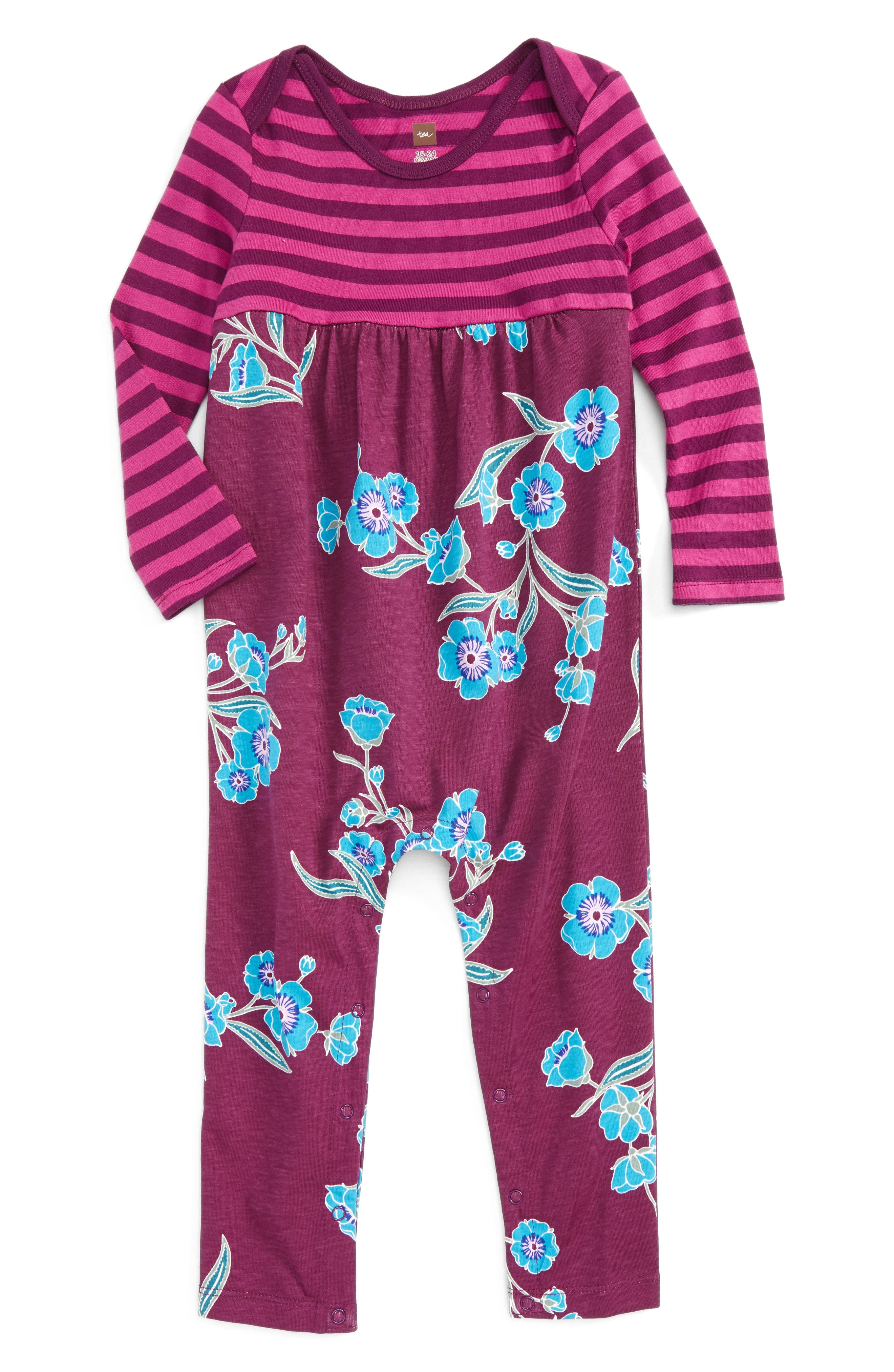 Alternate Image 1 Selected - Tea Collection Marjorie Romper (Baby Girls)