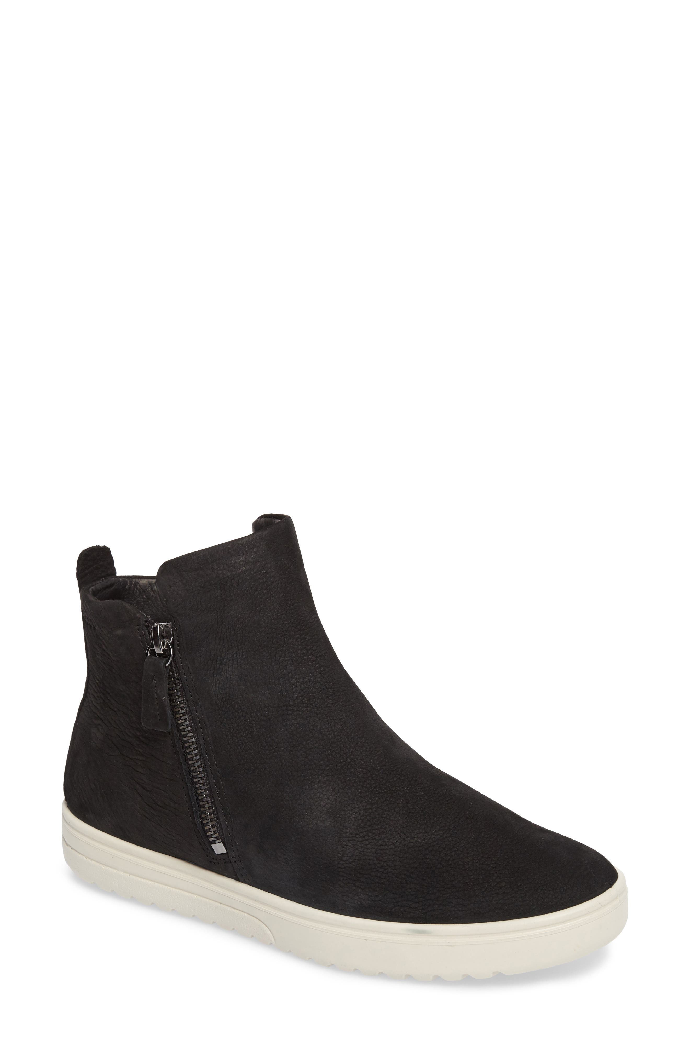Fara Bootie,                         Main,                         color, Black Leather