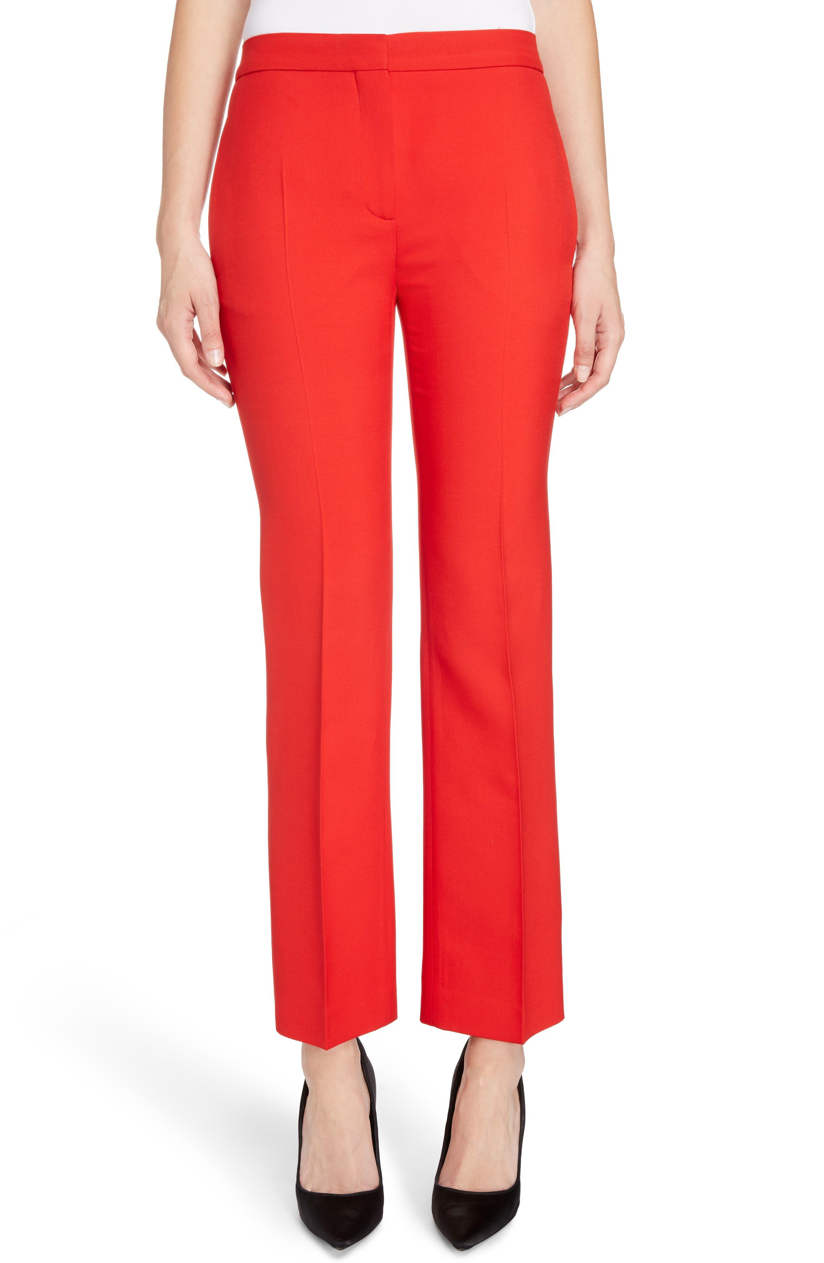 Alexander McQueen Wool & Silk Blend Pants
