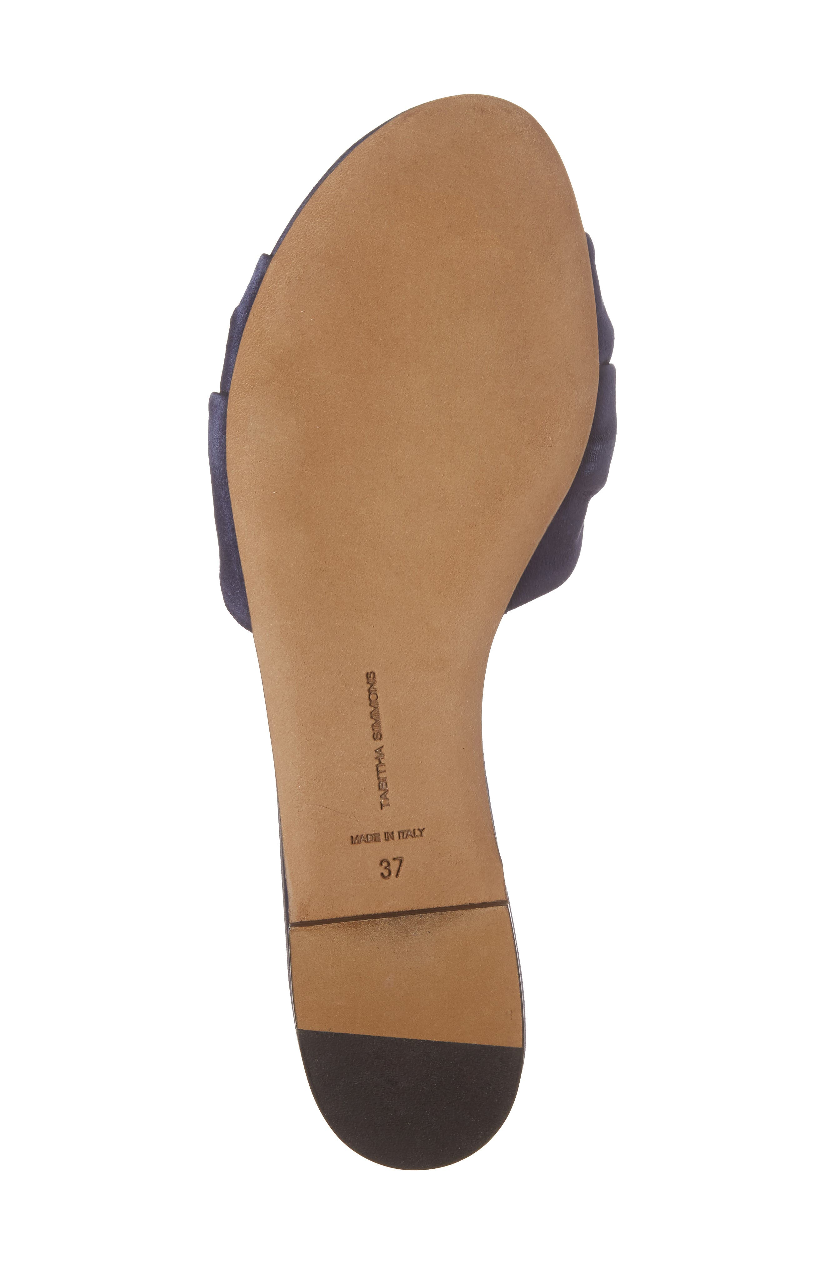 Cleo Knotted Bow Slide Sandal,                             Alternate thumbnail 6, color,                             Navy