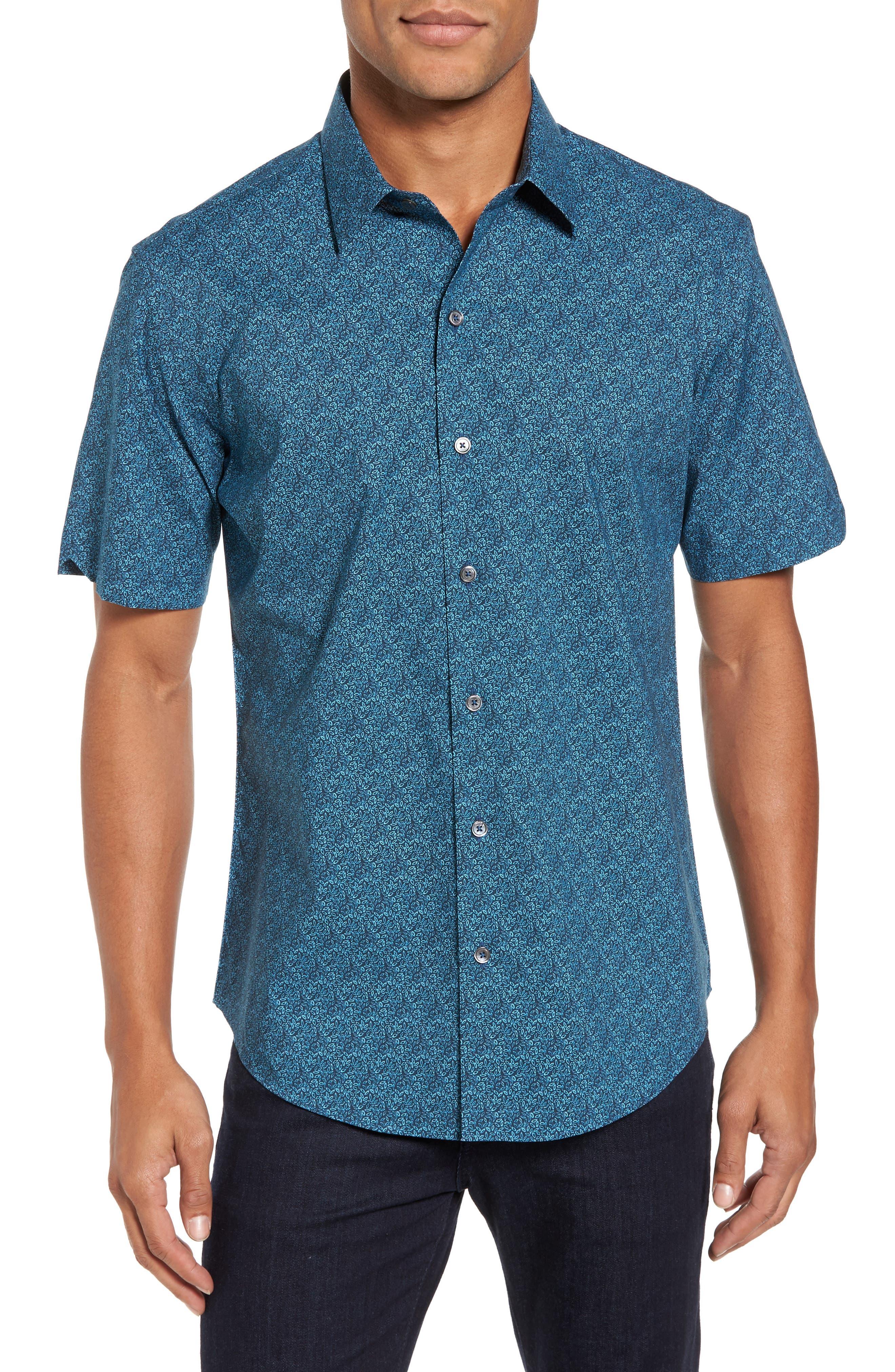 Zachary Prell Machnee Slim Fit Print Sport Shirt