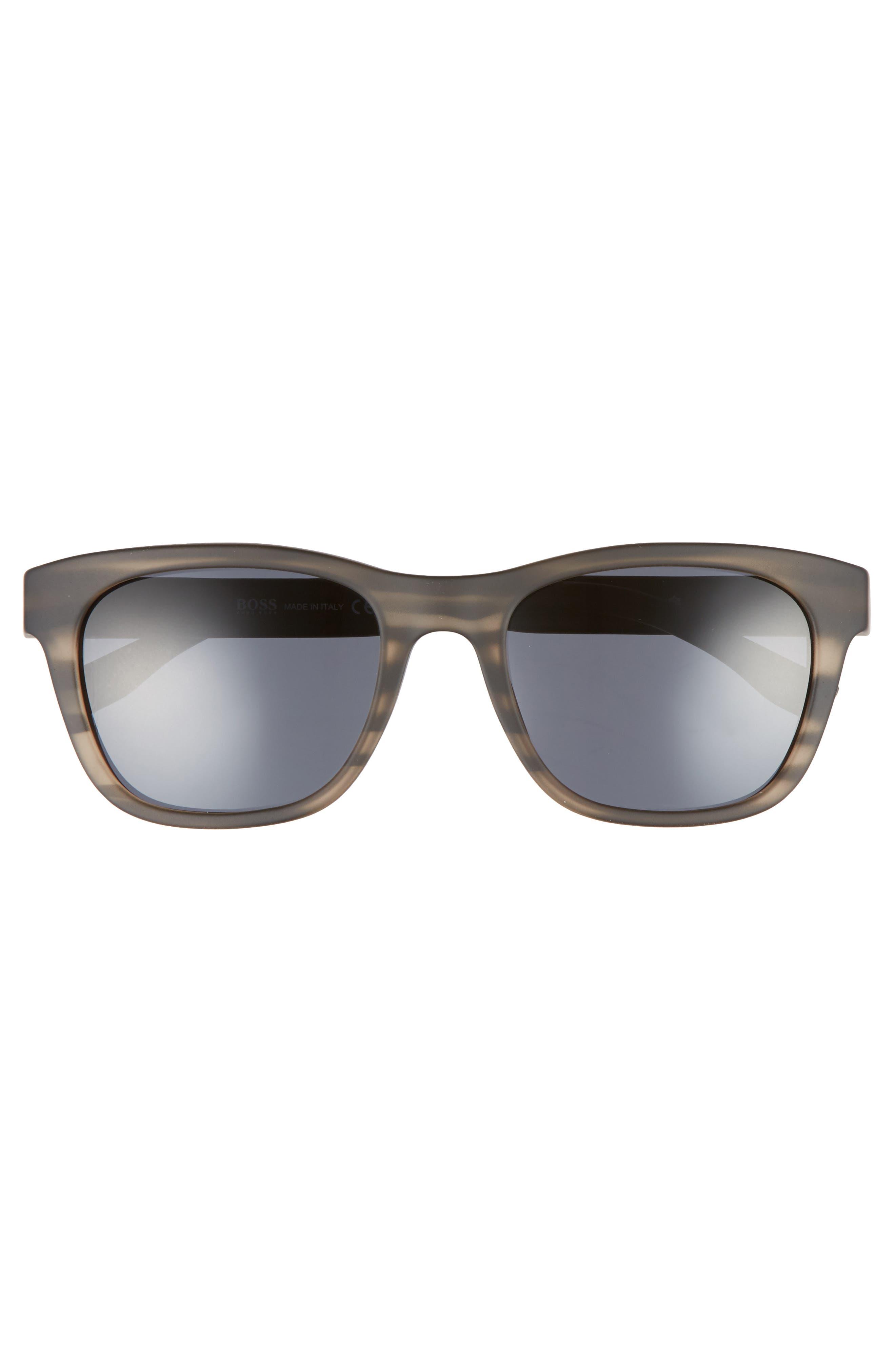 53mm Polarized Sunglasses,                             Alternate thumbnail 2, color,                             Gray Horn Black/ Gray Blue