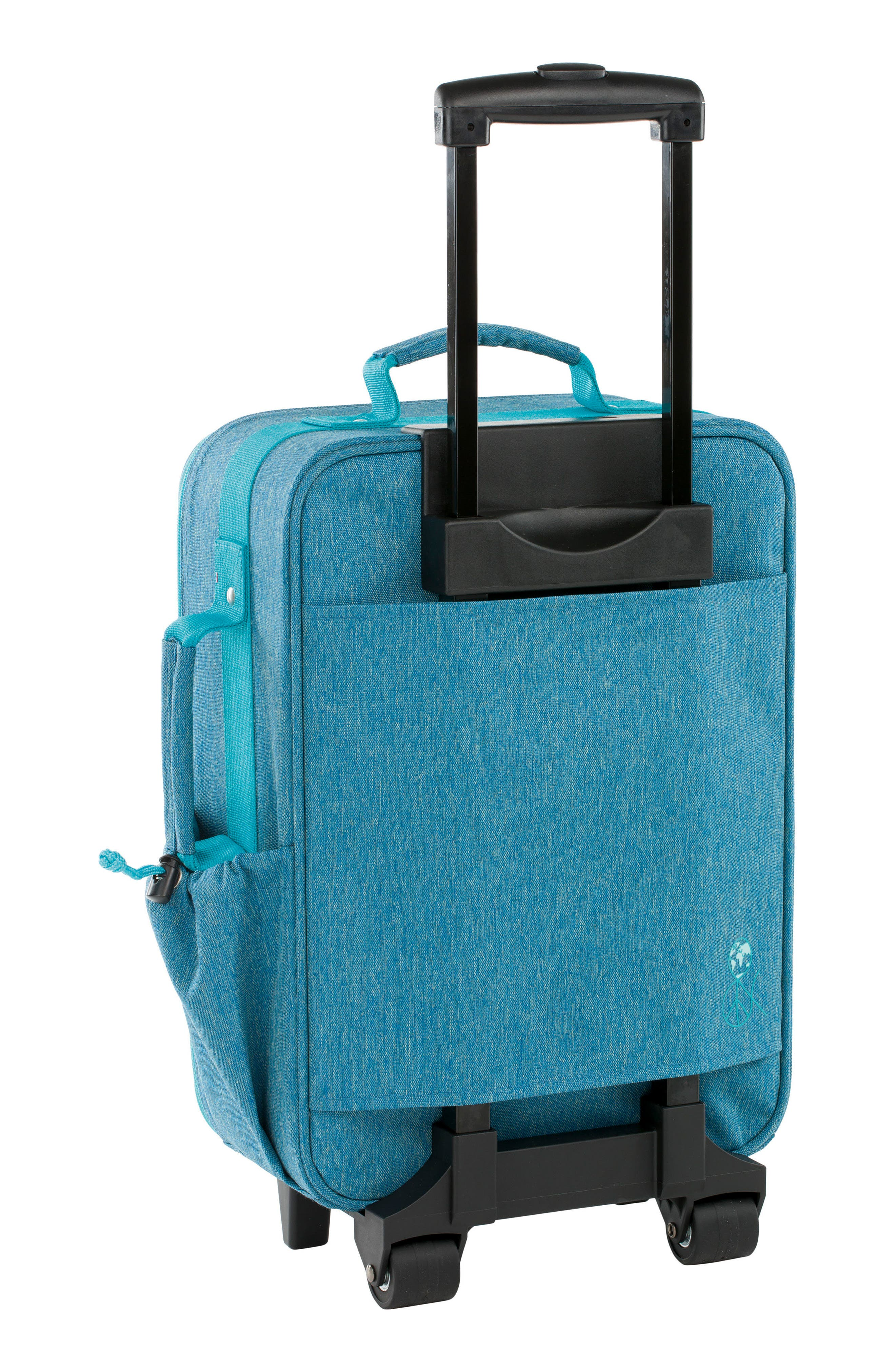 About Friends Rolling Suitcase,                             Alternate thumbnail 2, color,                             Melange Blue