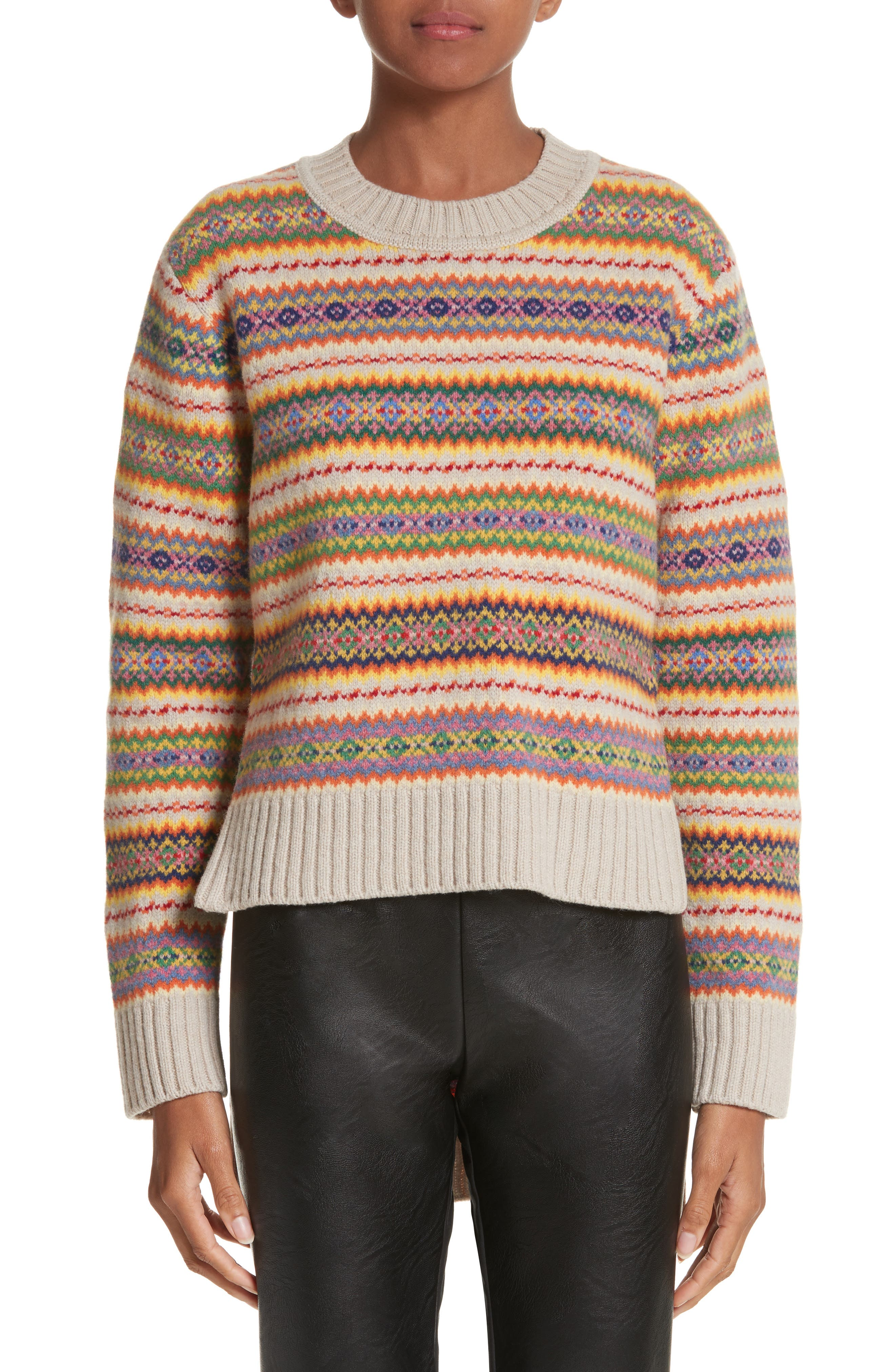 Main Image - Stella McCartney Shetland Wool Fair Isle Sweater