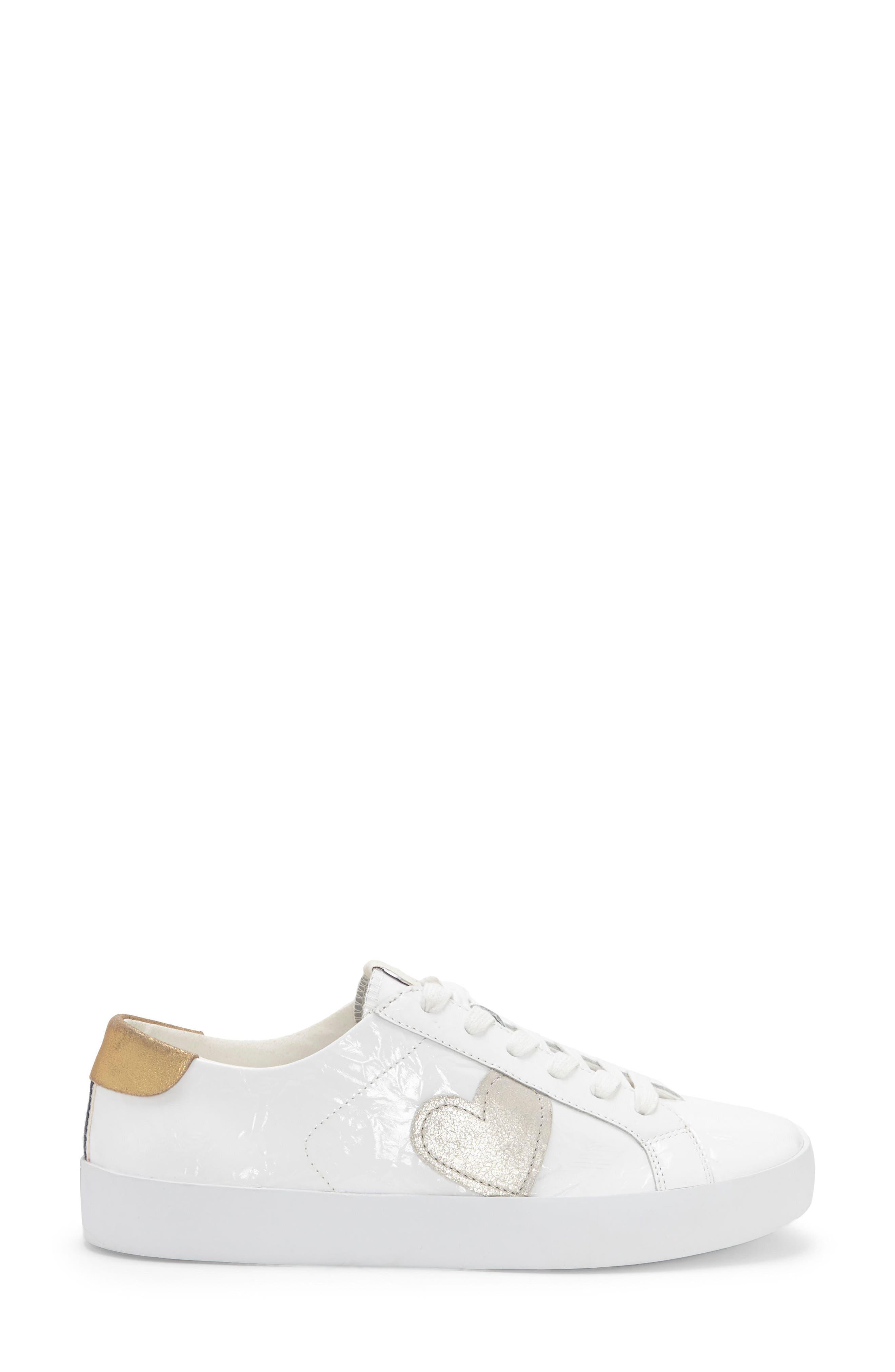 Gillen Sneaker,                             Alternate thumbnail 3, color,                             Pure White Crinkled Patent