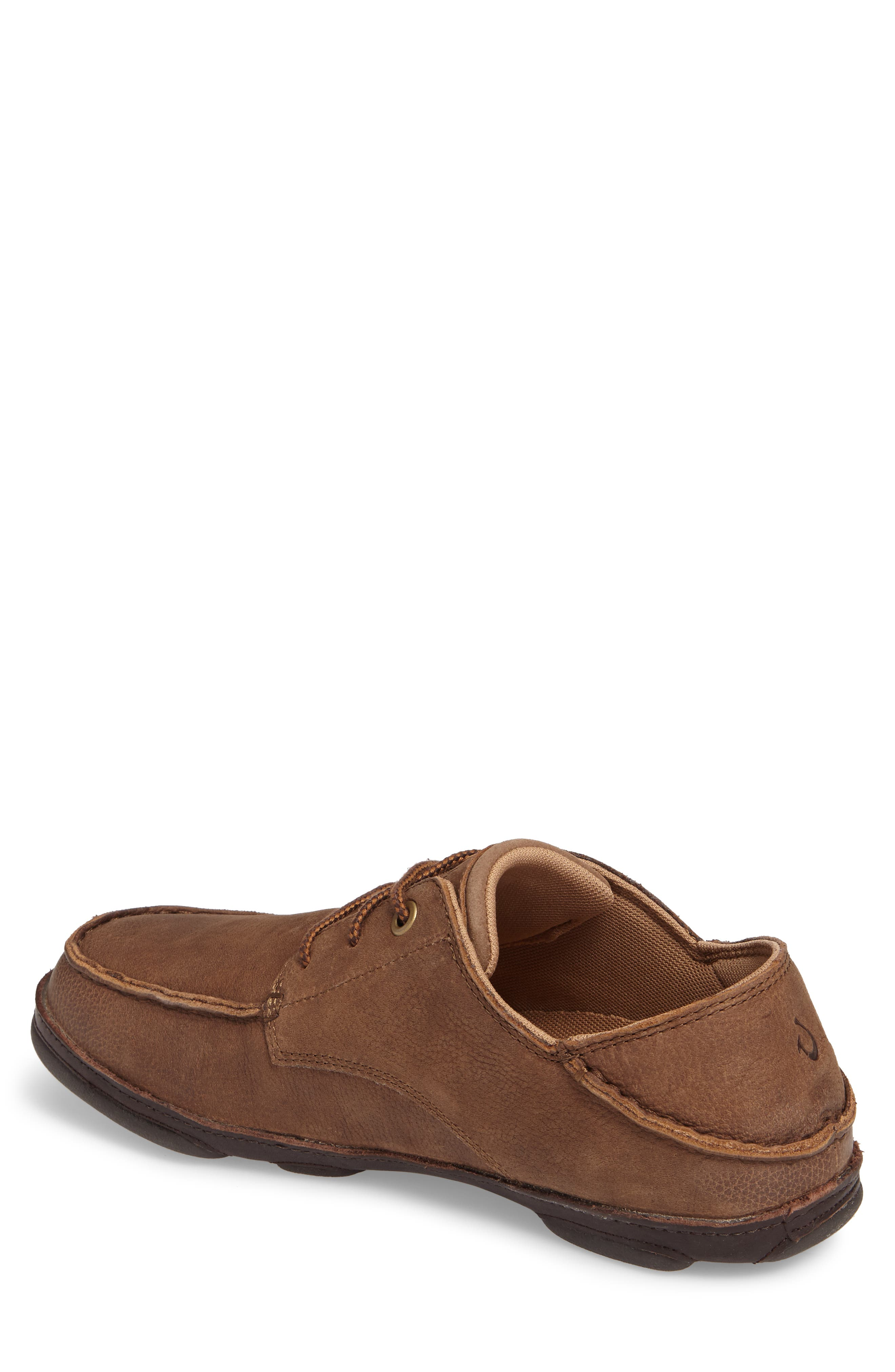 Hamakua Poko Moc Toe Derby,                             Alternate thumbnail 2, color,                             Ray/ Dark Wood Leather