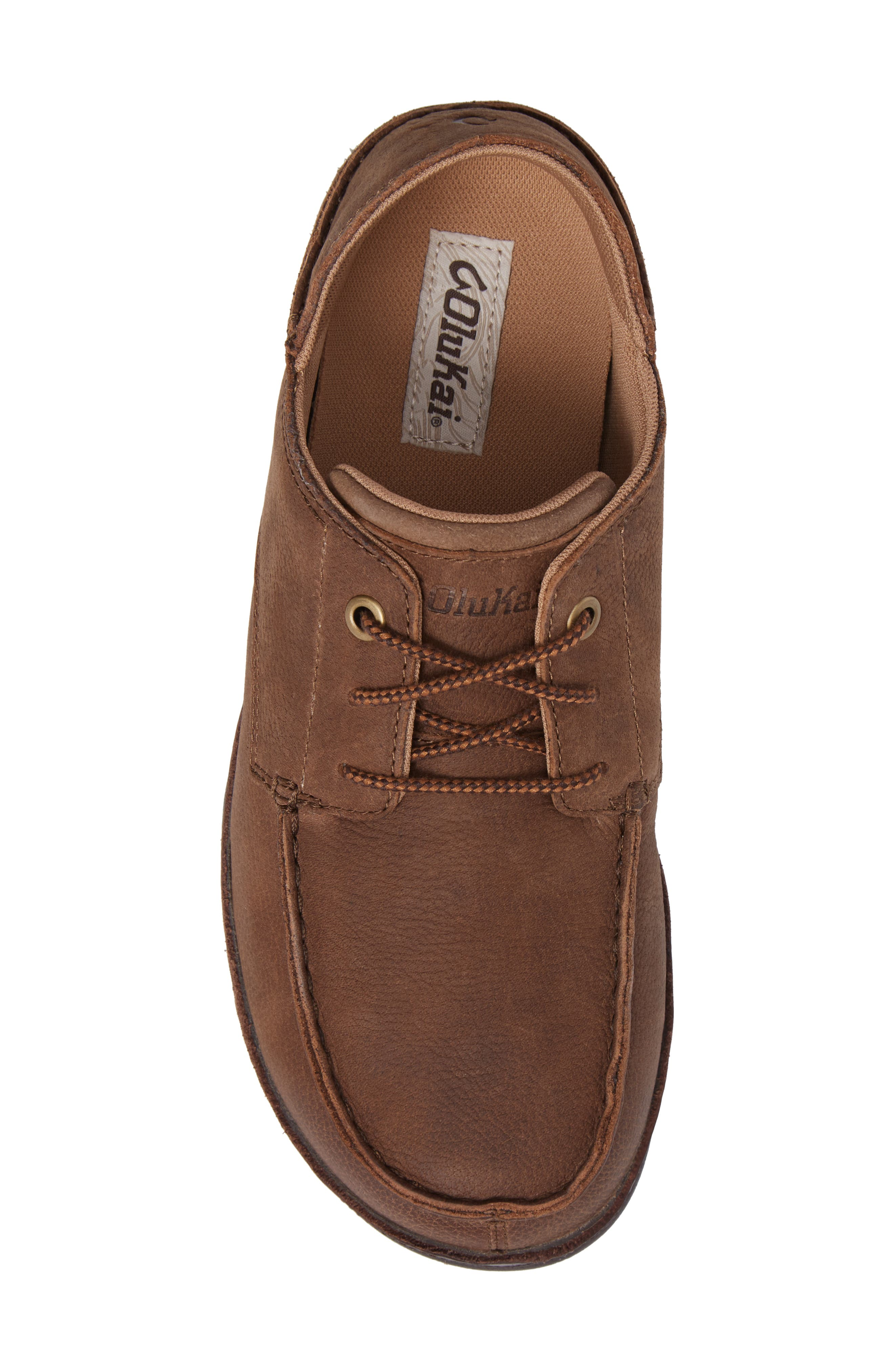 Hamakua Poko Moc Toe Derby,                             Alternate thumbnail 5, color,                             Ray/ Dark Wood Leather