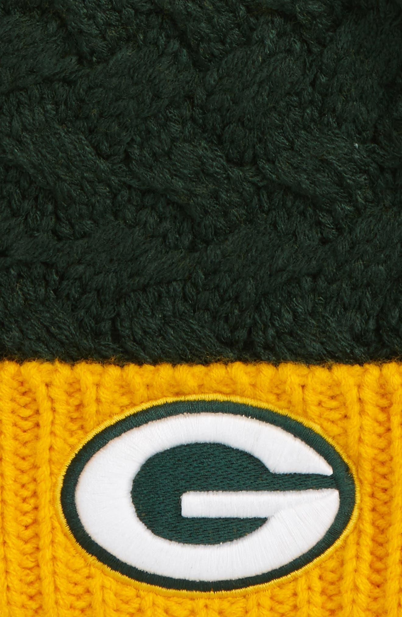 Matterhorn Green Bay Packers Pom Beanie,                             Alternate thumbnail 2, color,                             Dark Green