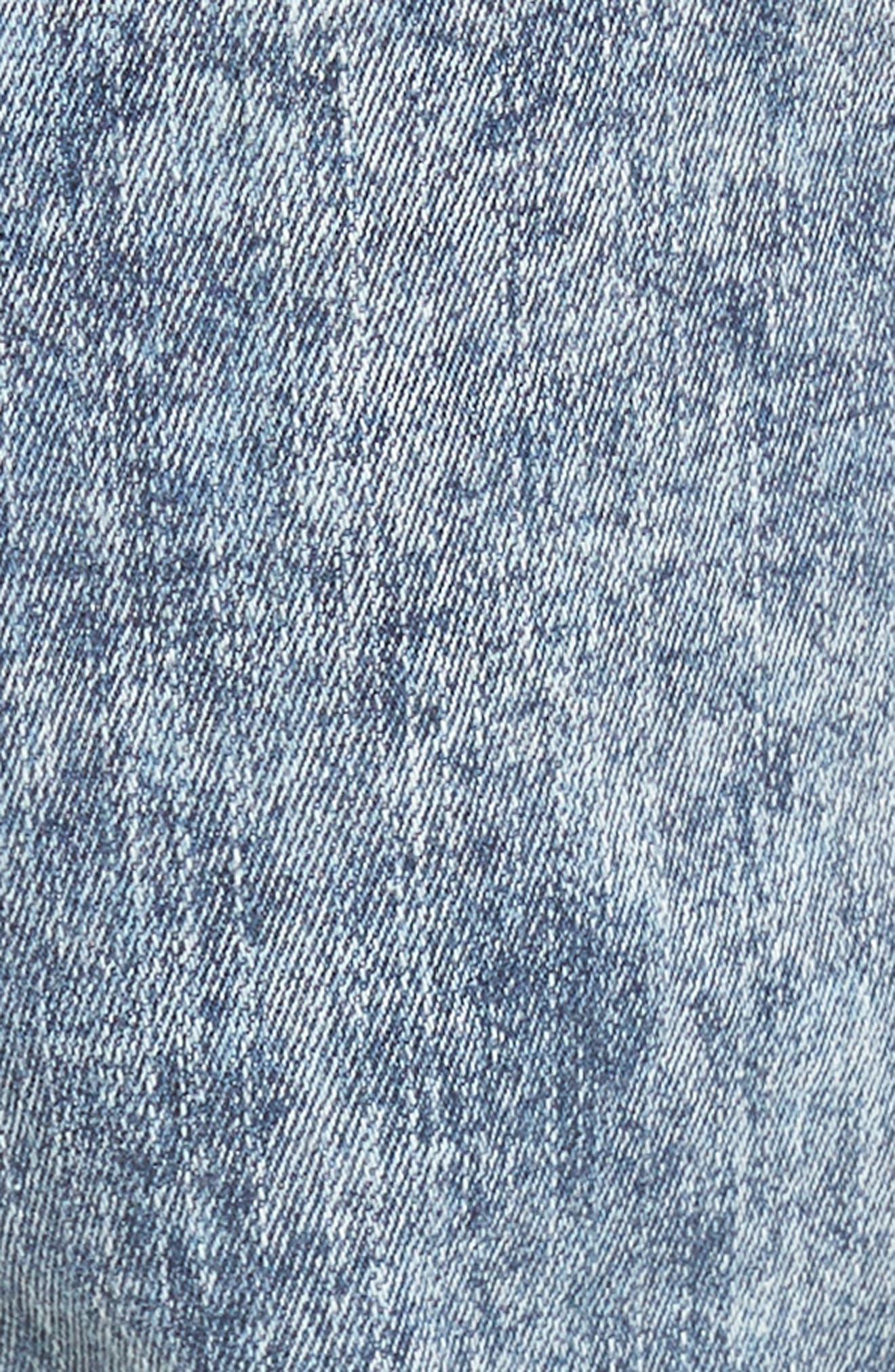 Alternate Image 5  - Dr. Denim Supply Co. Snap Skinny Fit Jeans (Acid Blue)
