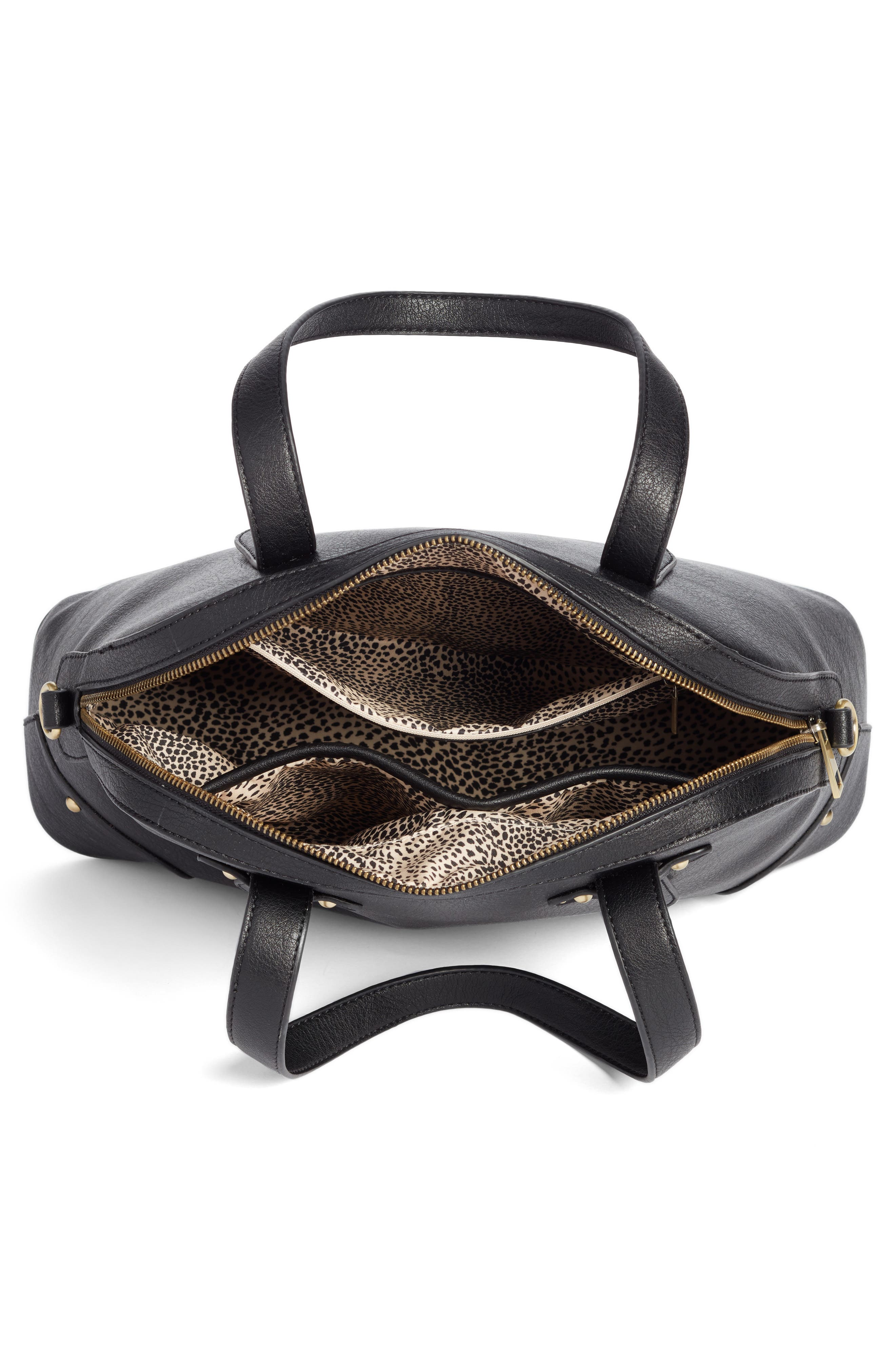 Alternate Image 3  - Sole Society Christie Faux Leather Satchel