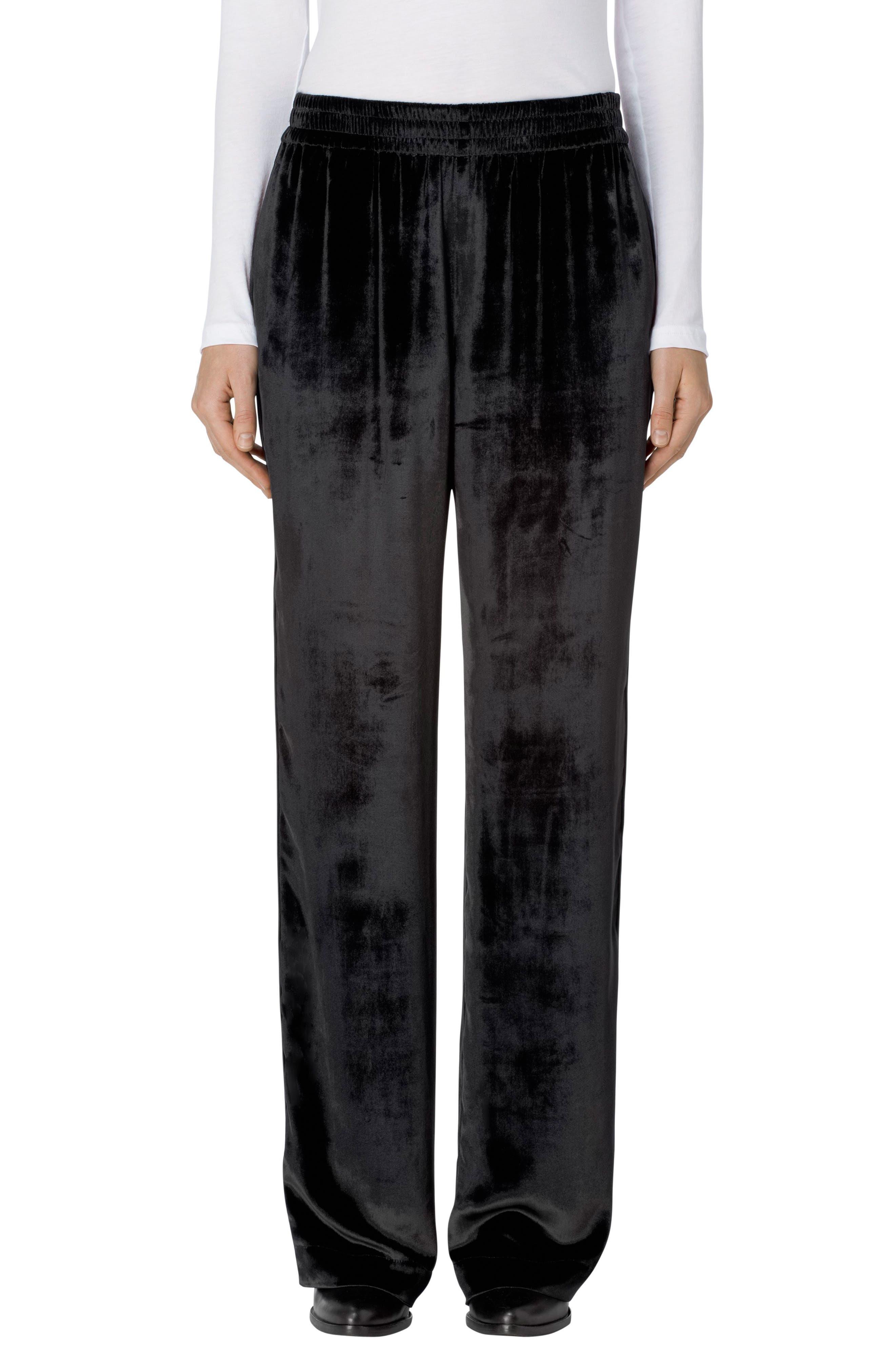 Ardon Velvet Pants,                         Main,                         color, Black
