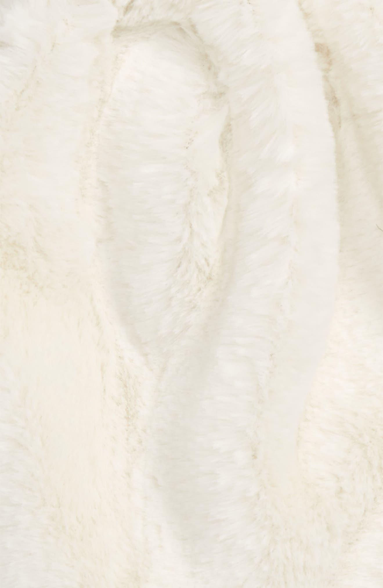 Faux Fur Earflap Hat,                             Alternate thumbnail 2, color,                             Ivory Egret