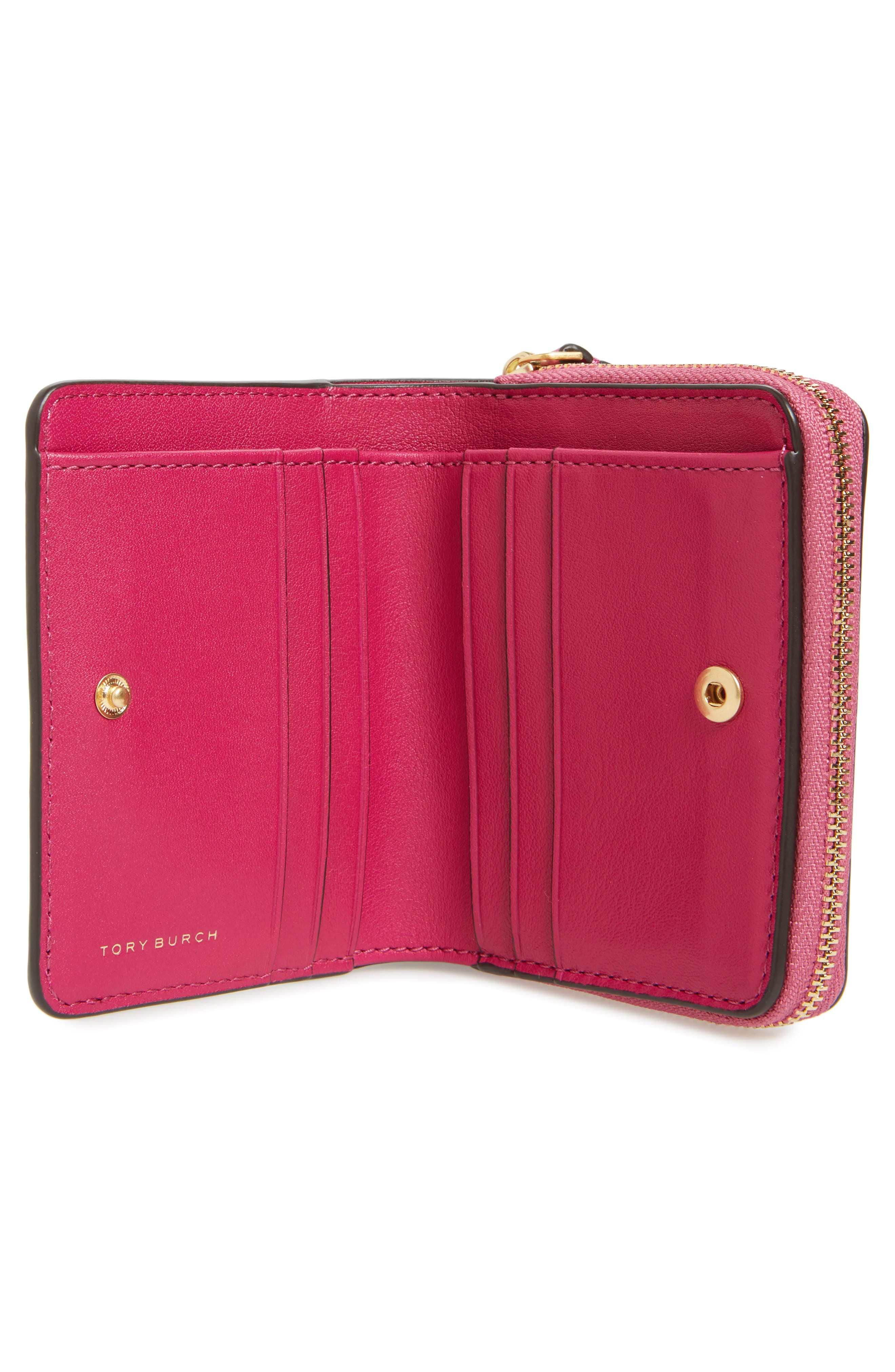 Alternate Image 3  - Tory Burch Mini Charlie Leather Wallet