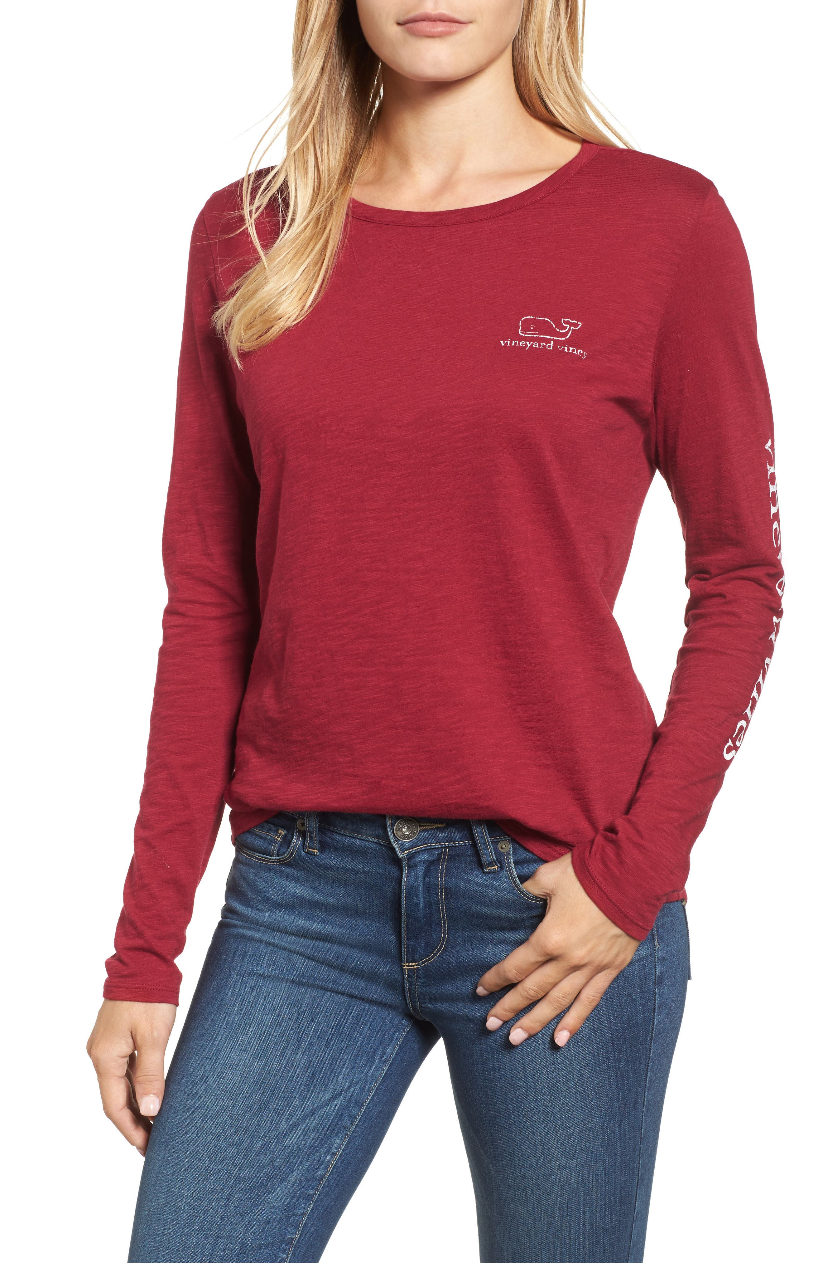 vineyard vines Long Sleeve Logo Tee