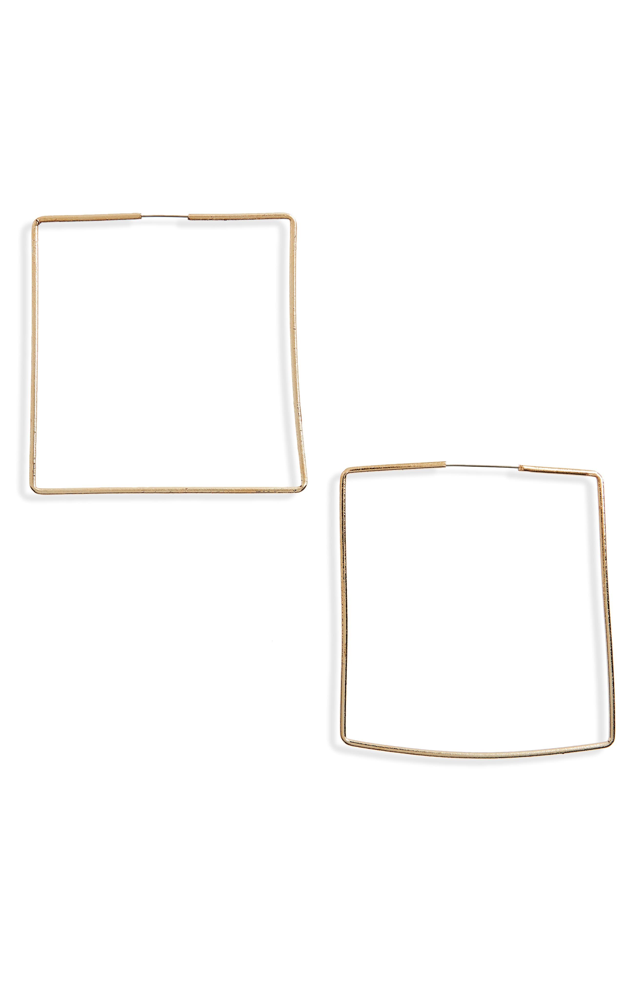 Main Image - BP. Square Hoop Earrings