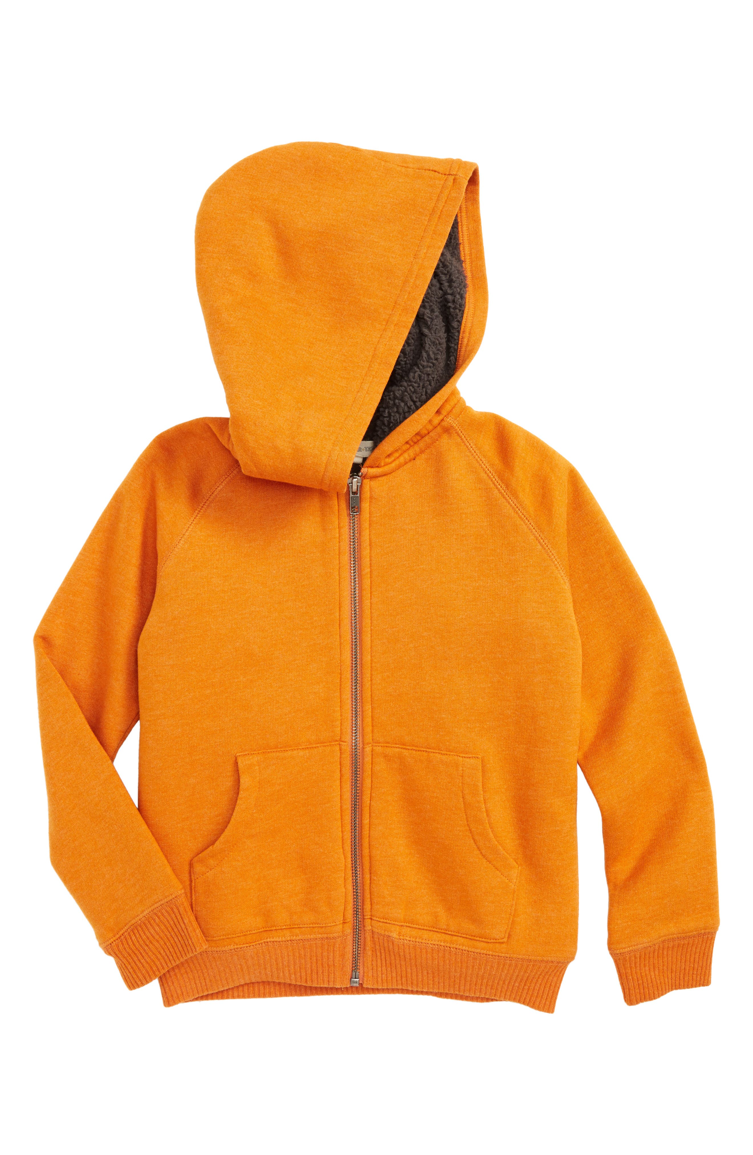 Fleece Lined Hoodie,                         Main,                         color, Orange Hawaii