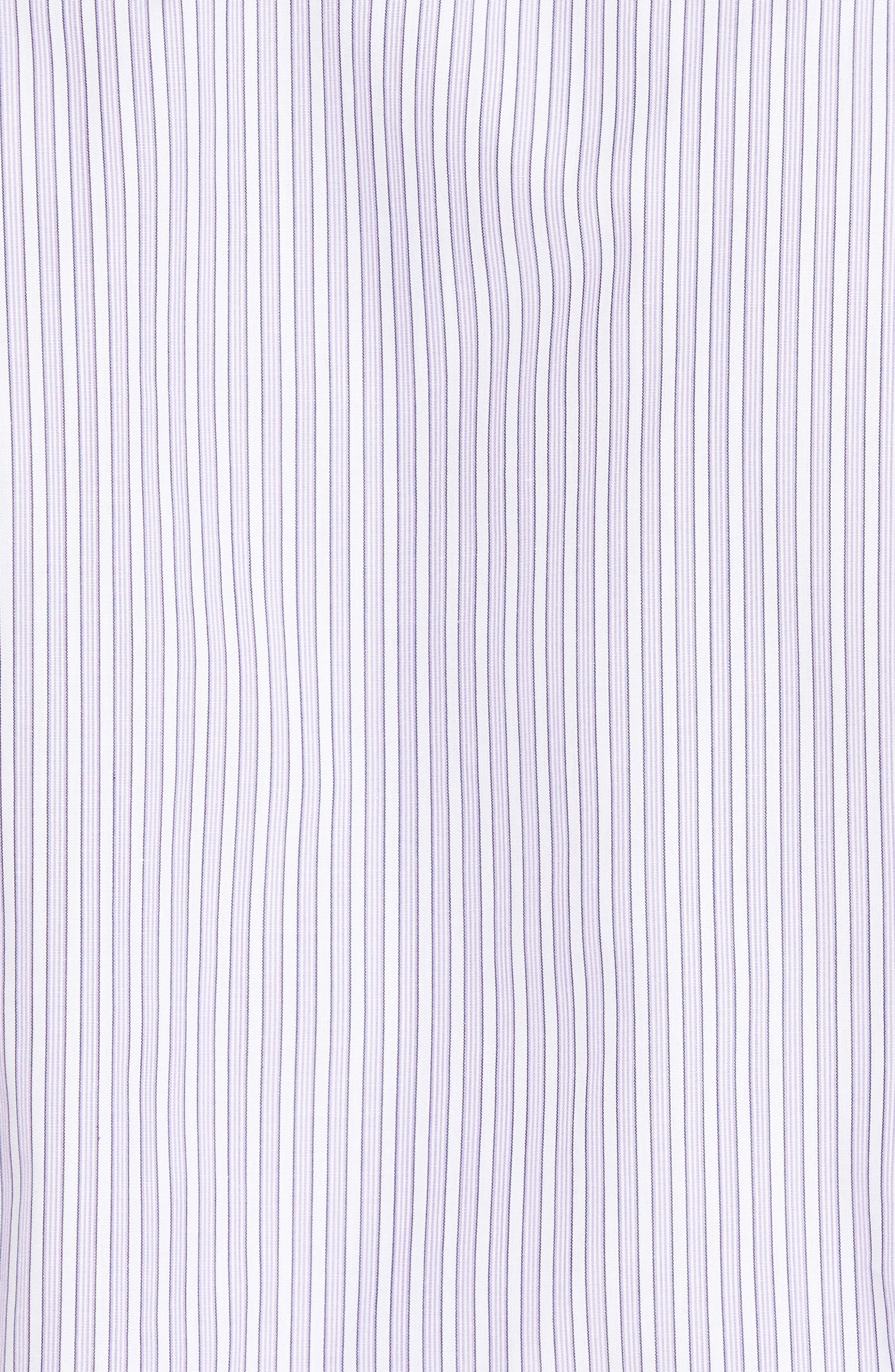 Slim Fit Perfect Stripe Sport Shirt,                             Alternate thumbnail 5, color,                             Purple