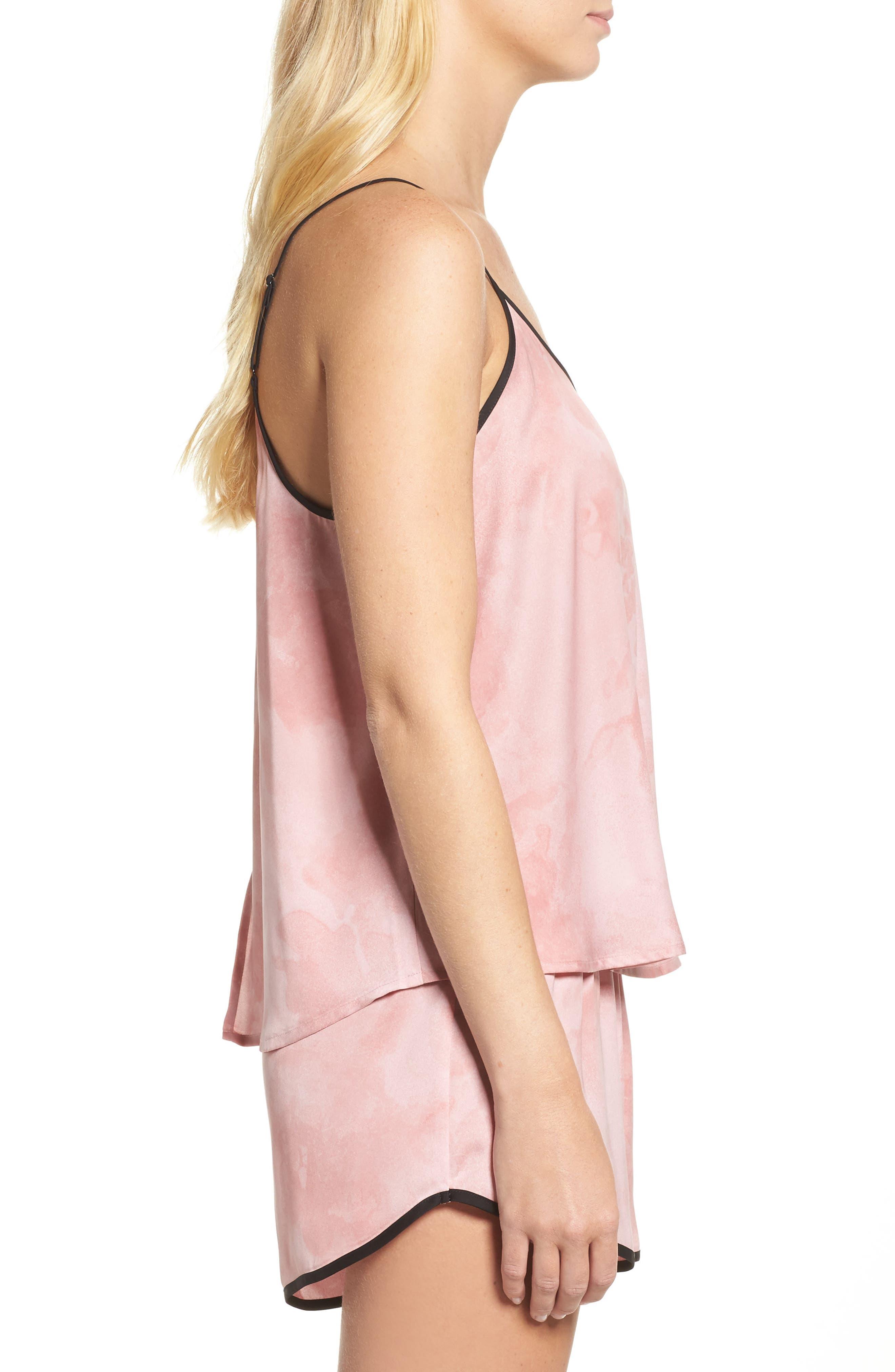 Alternate Image 3  - DKNY Washed Satin Short Pajamas & Eye Mask