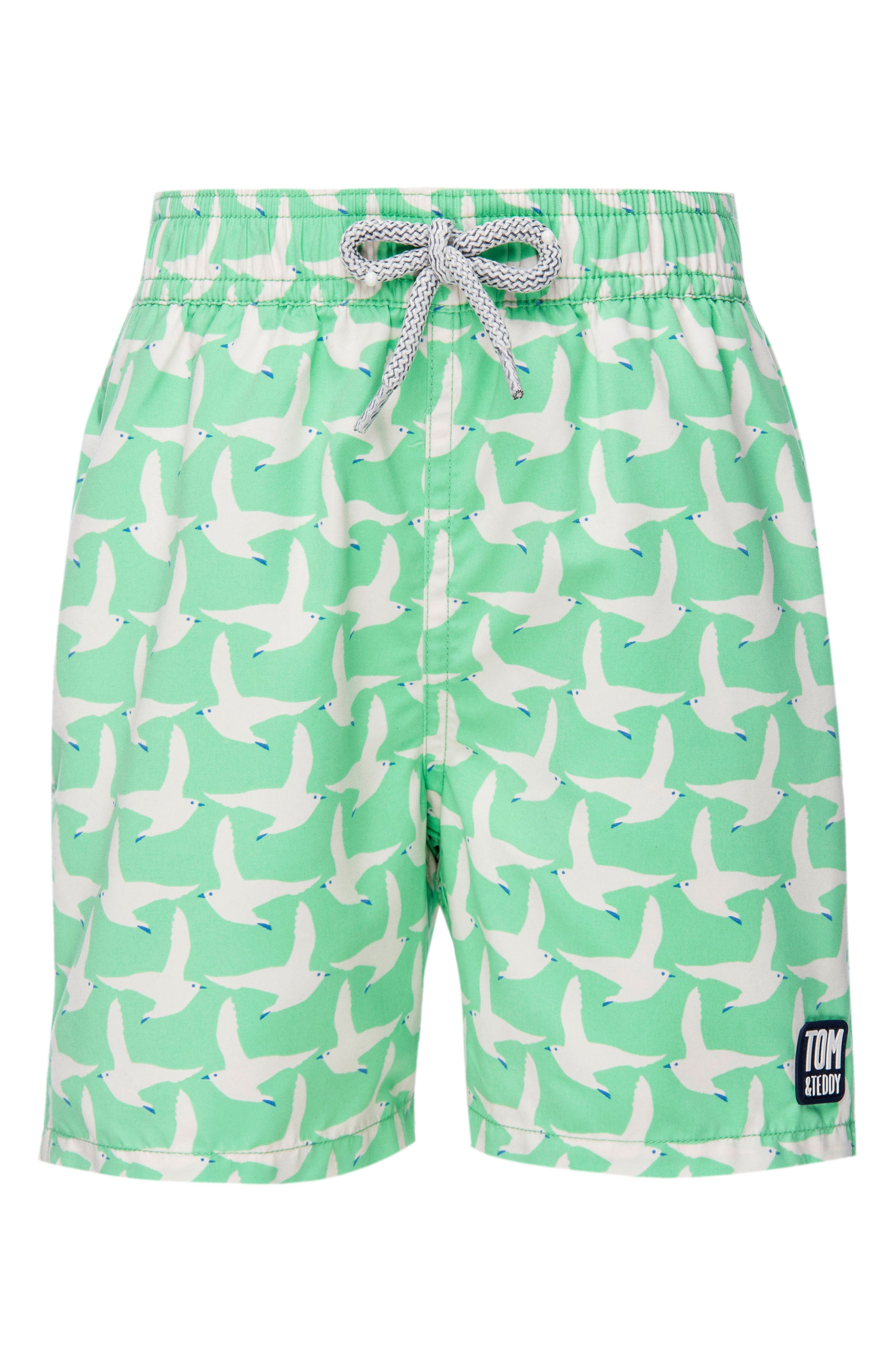 Seagull Swim Trunks,                         Main,                         color, Spring Green
