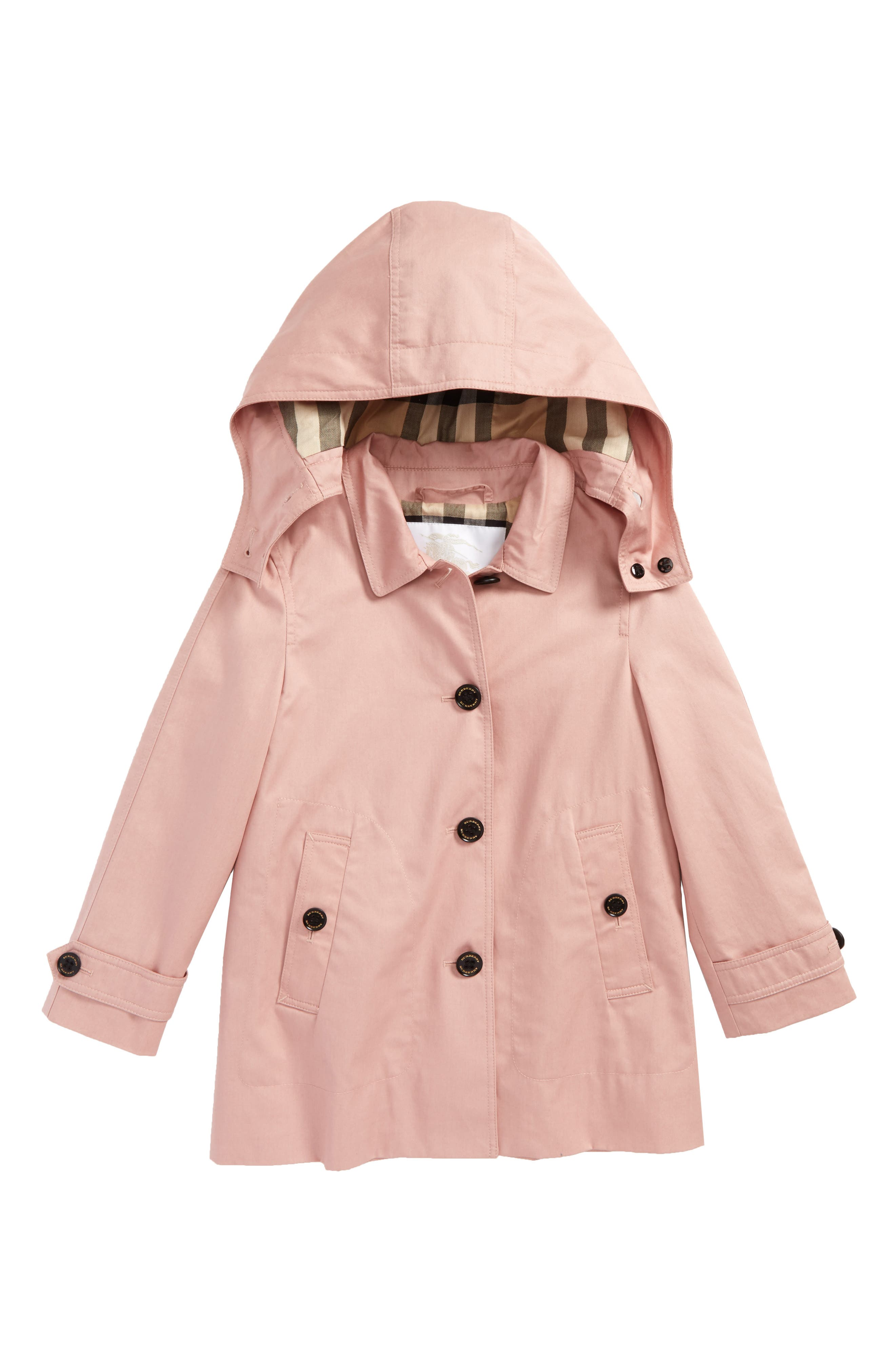 Geri Hooded Trench Coat,                         Main,                         color, Pale Rose