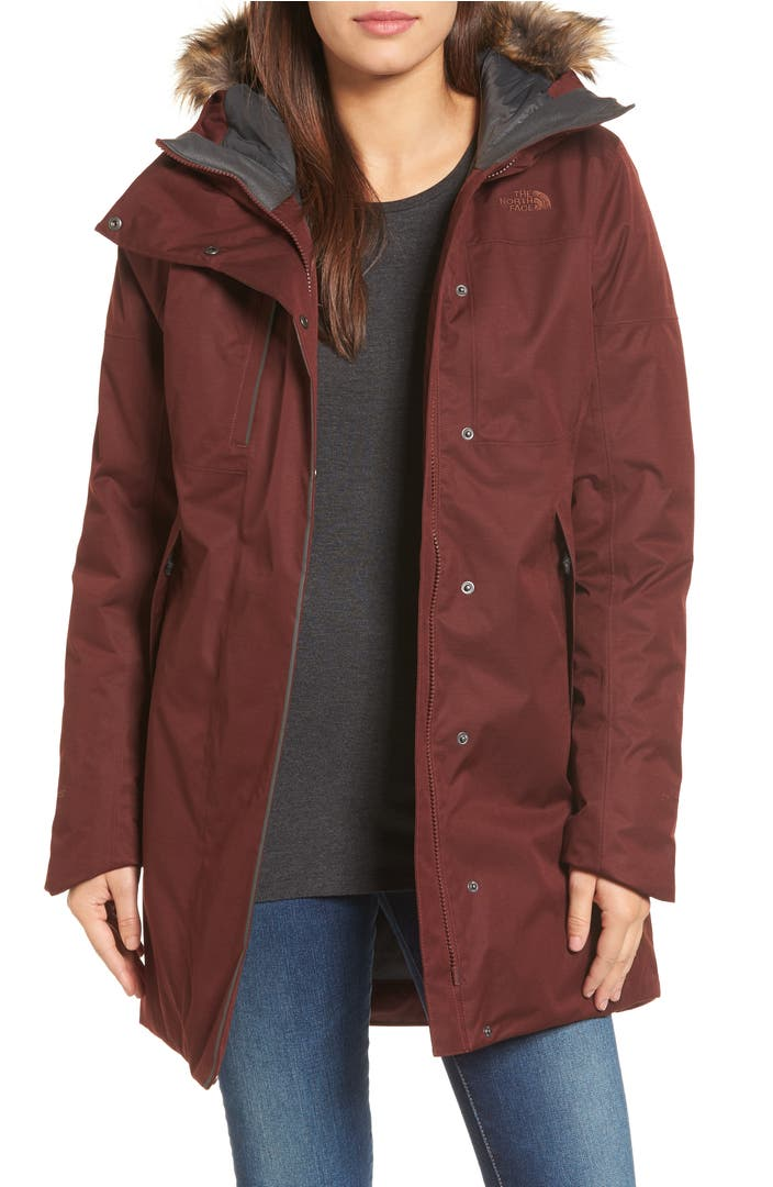 The North Face Far Northern Waterproof Down Parka with Faux Fur ...