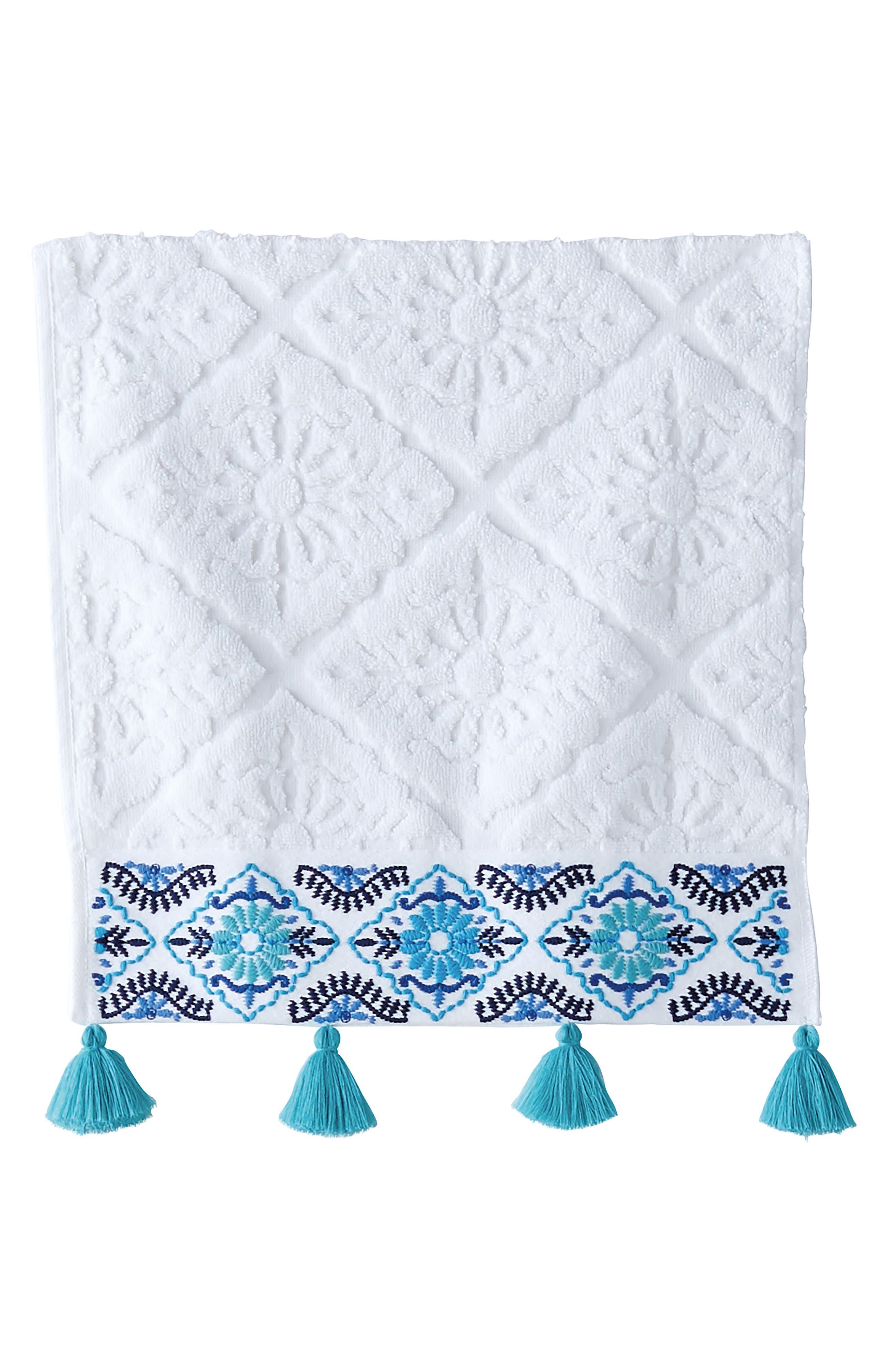 Aloka Washcloth,                         Main,                         color, Blue