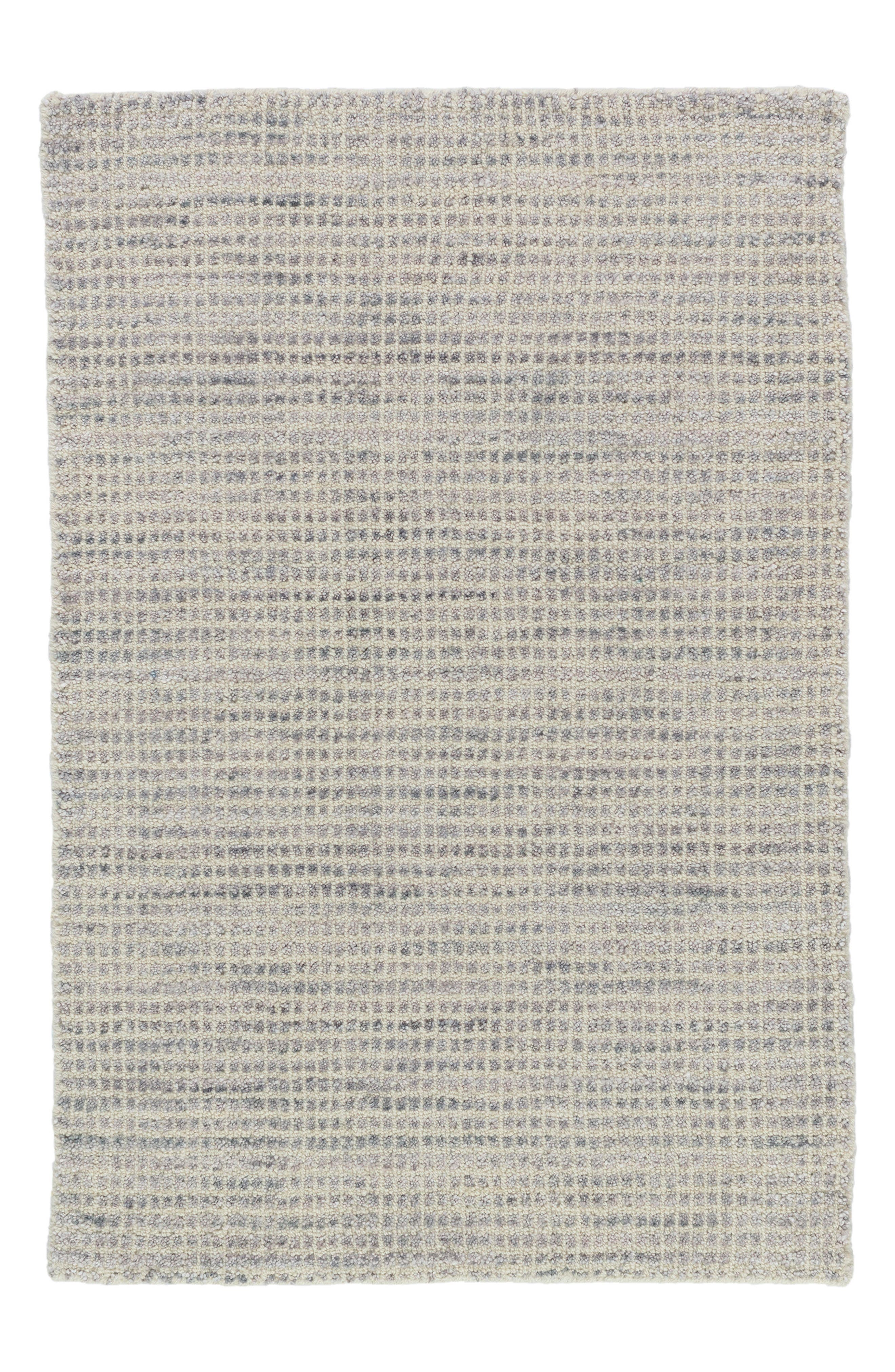 Homer Knotted Wool-Blend Rug,                             Main thumbnail 1, color,                             Grey