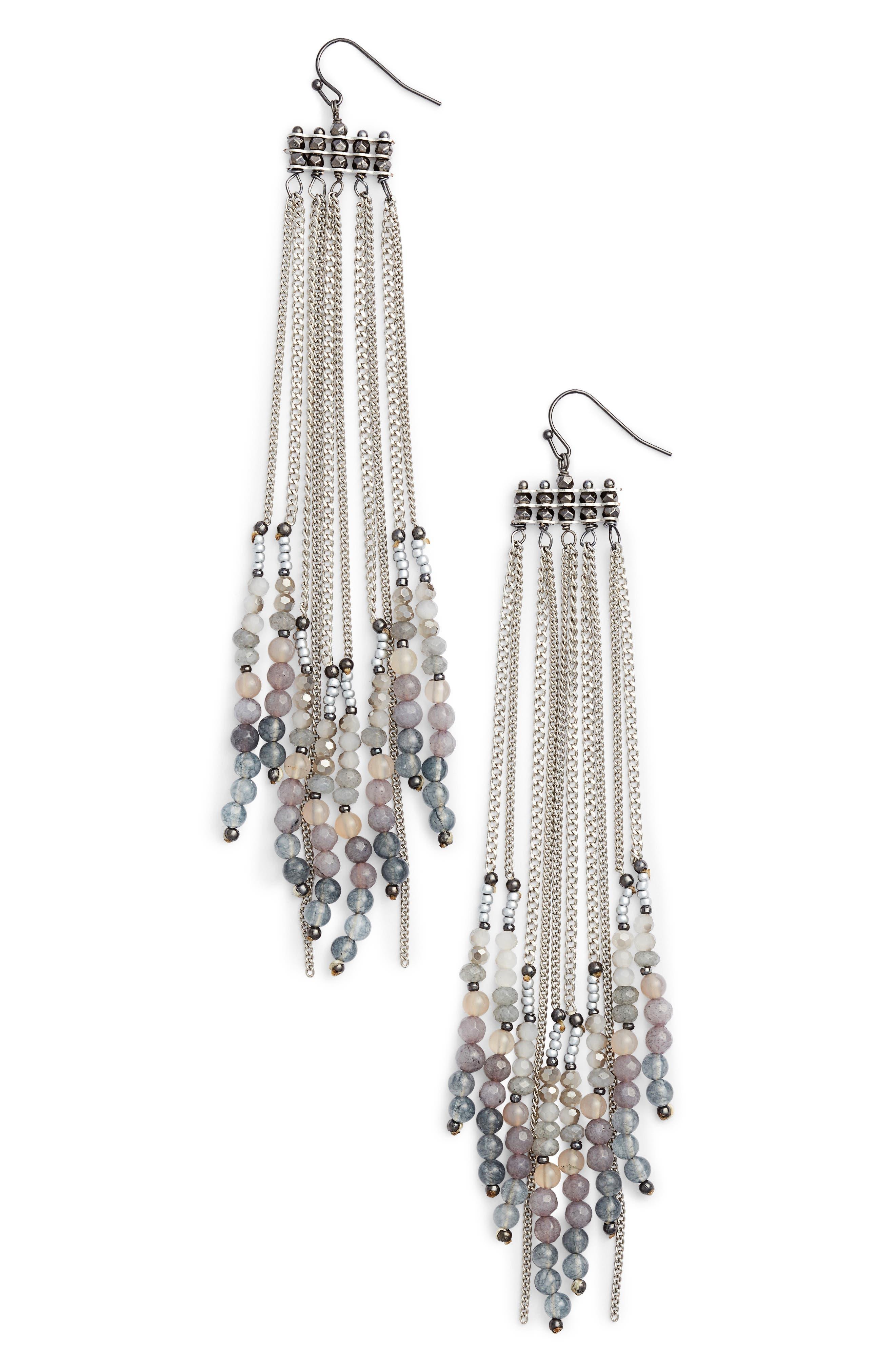 Alternate Image 1 Selected - Nakamol Design Chain Shoulder Duster Earrings