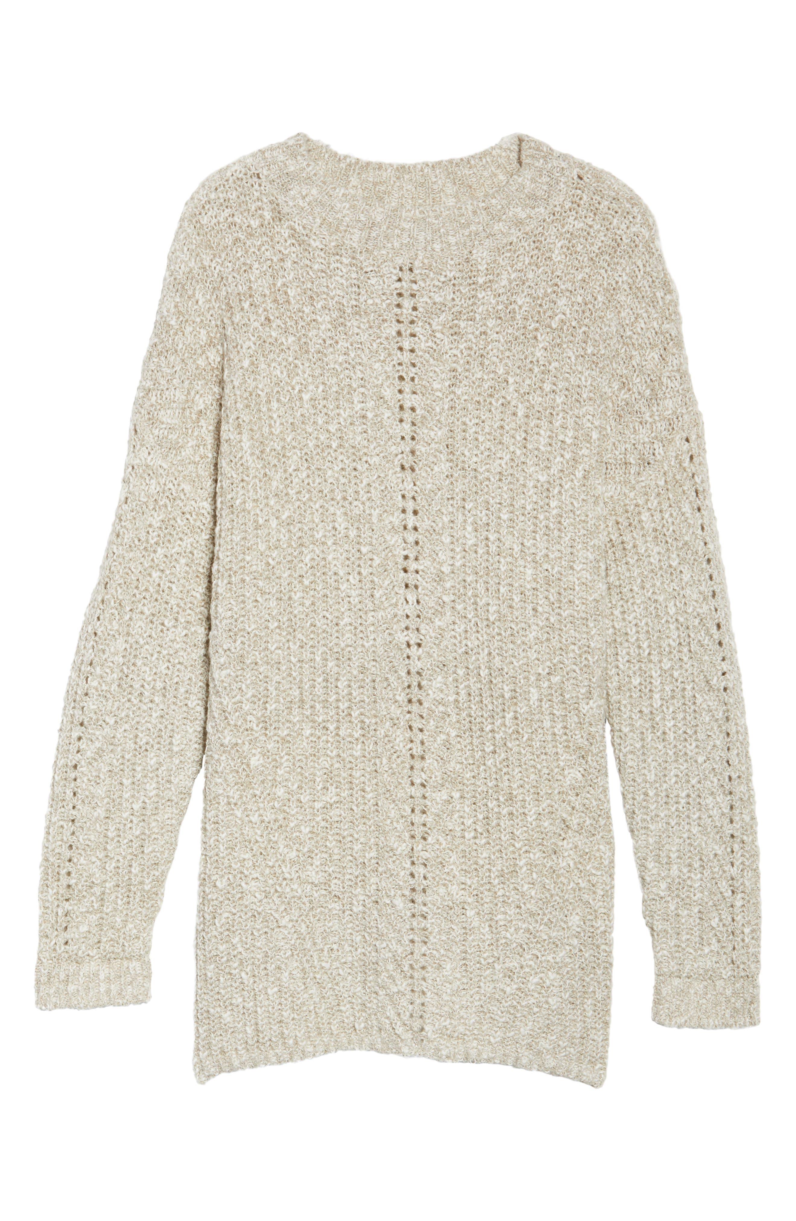Open Stitch Sweater,                             Alternate thumbnail 6, color,                             Natural Multi