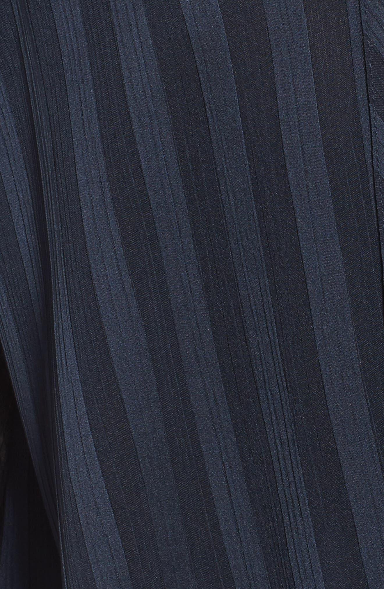 Alternate Image 5  - Trouvé Sheer Shadow Stripe Top