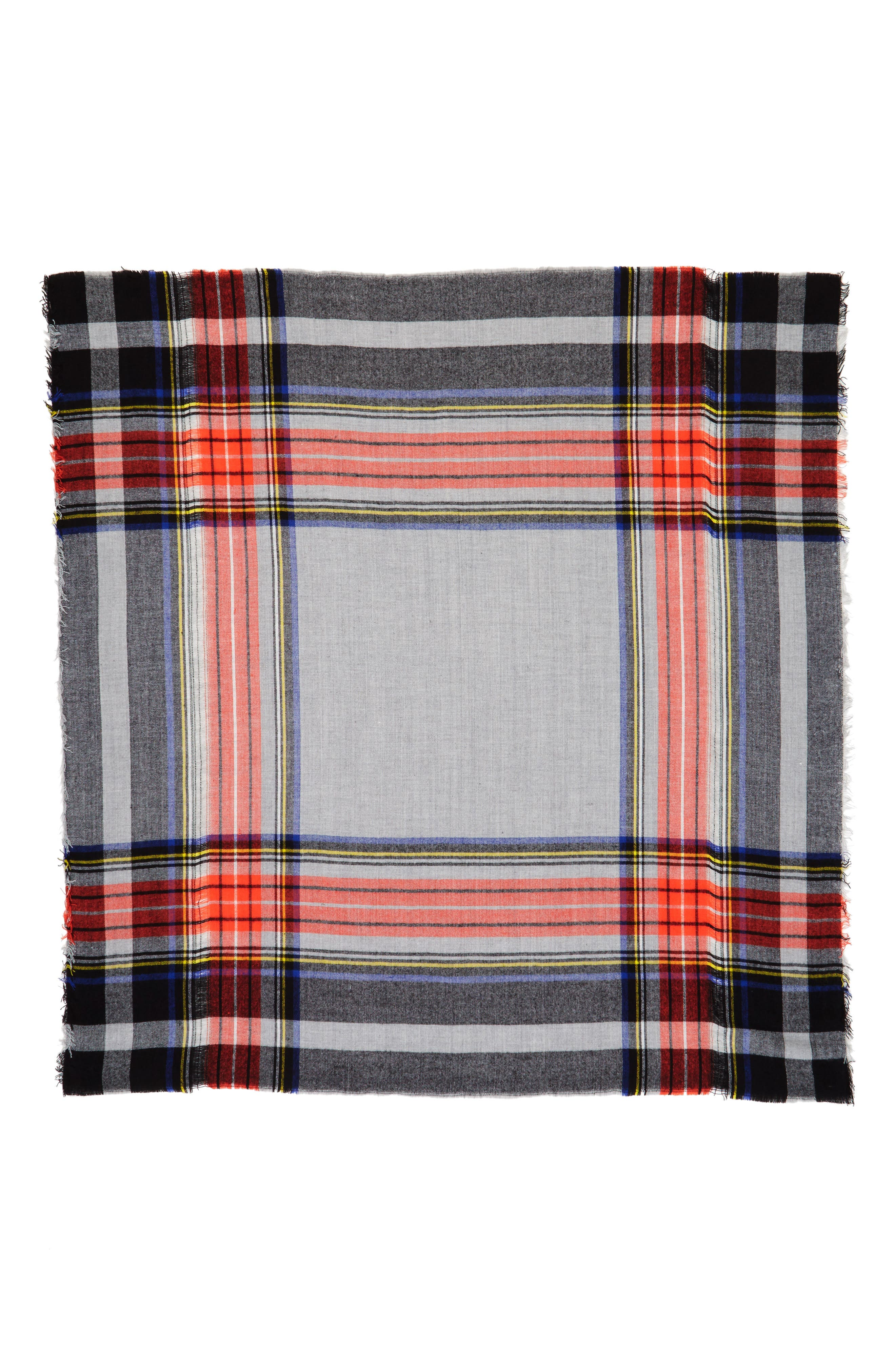 Alternate Image 2  - David & Young Contrast Plaid Square Scarf