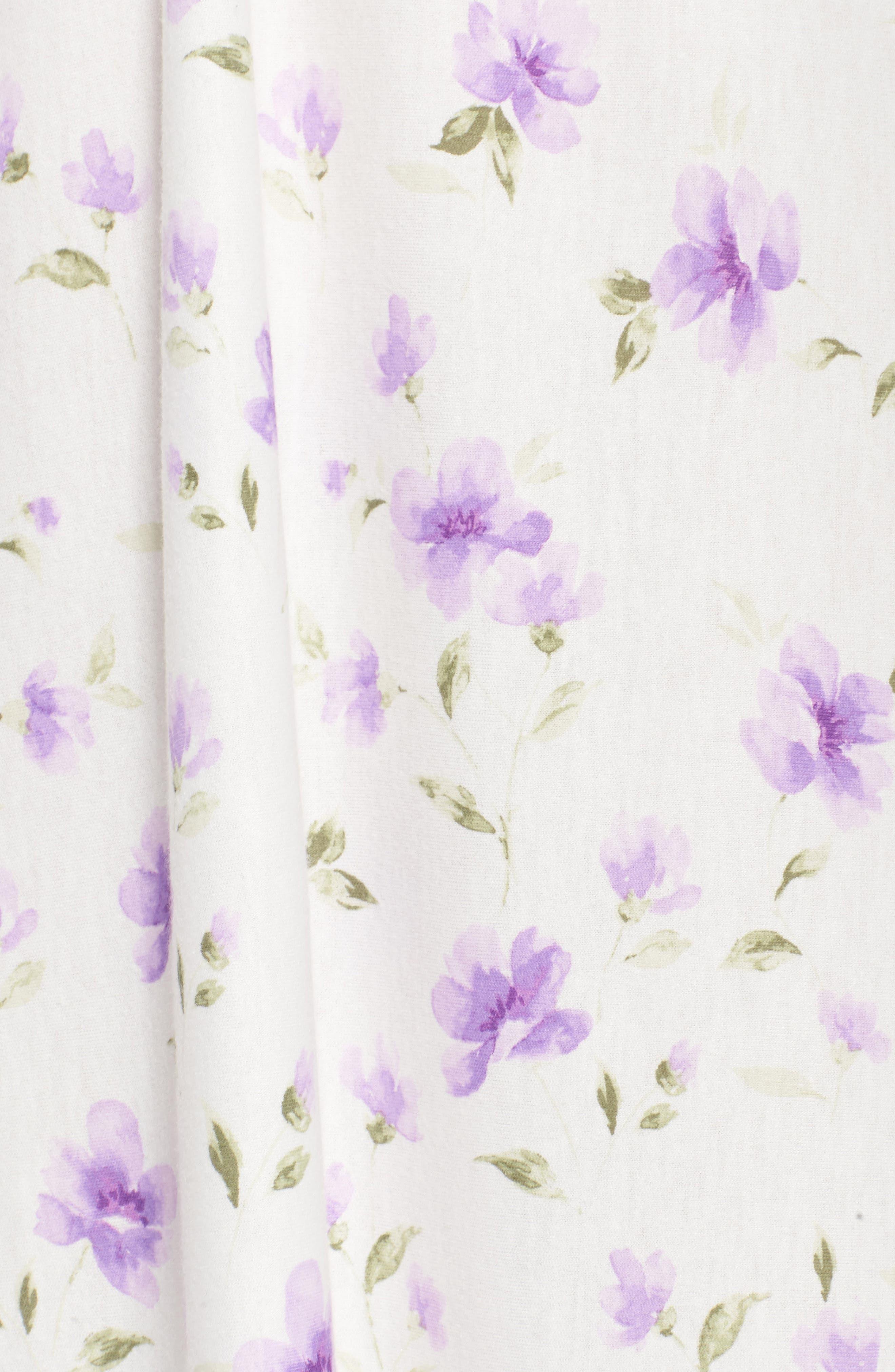 Long Nightgown,                             Alternate thumbnail 6, color,                             Watercolor Floral Border