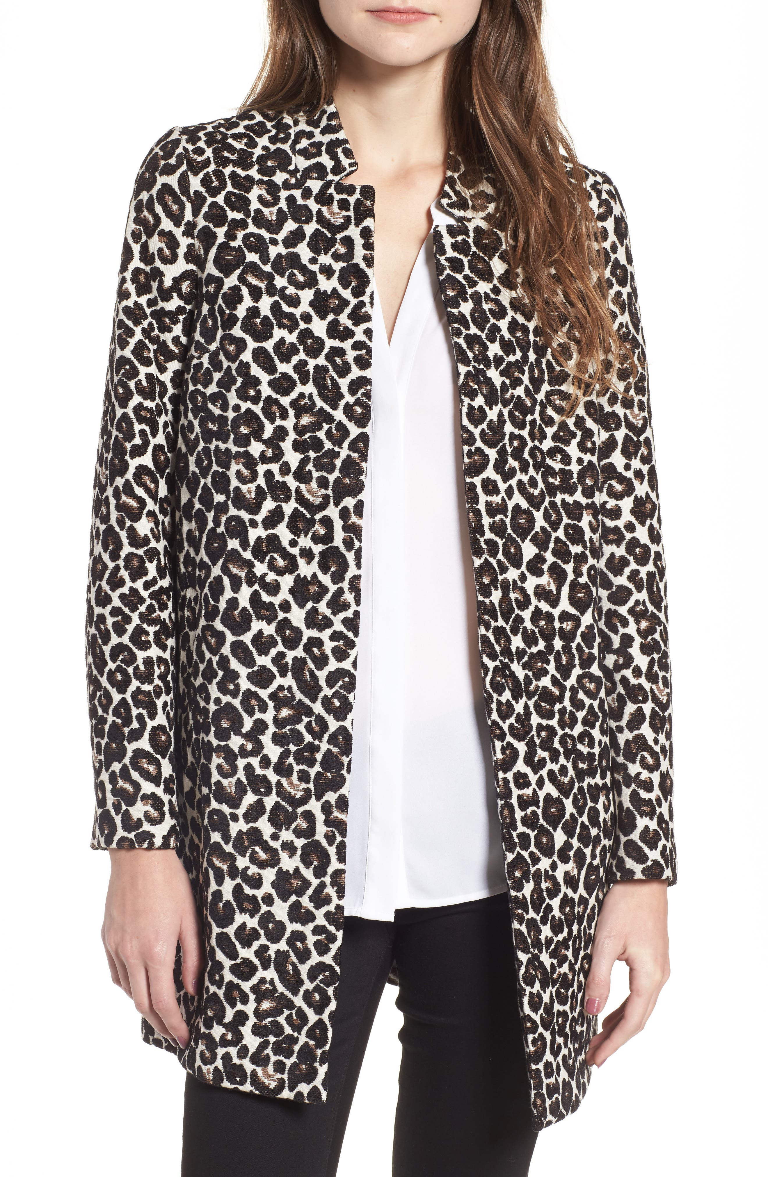 Leopard Print Car Coat,                         Main,                         color, Leopard