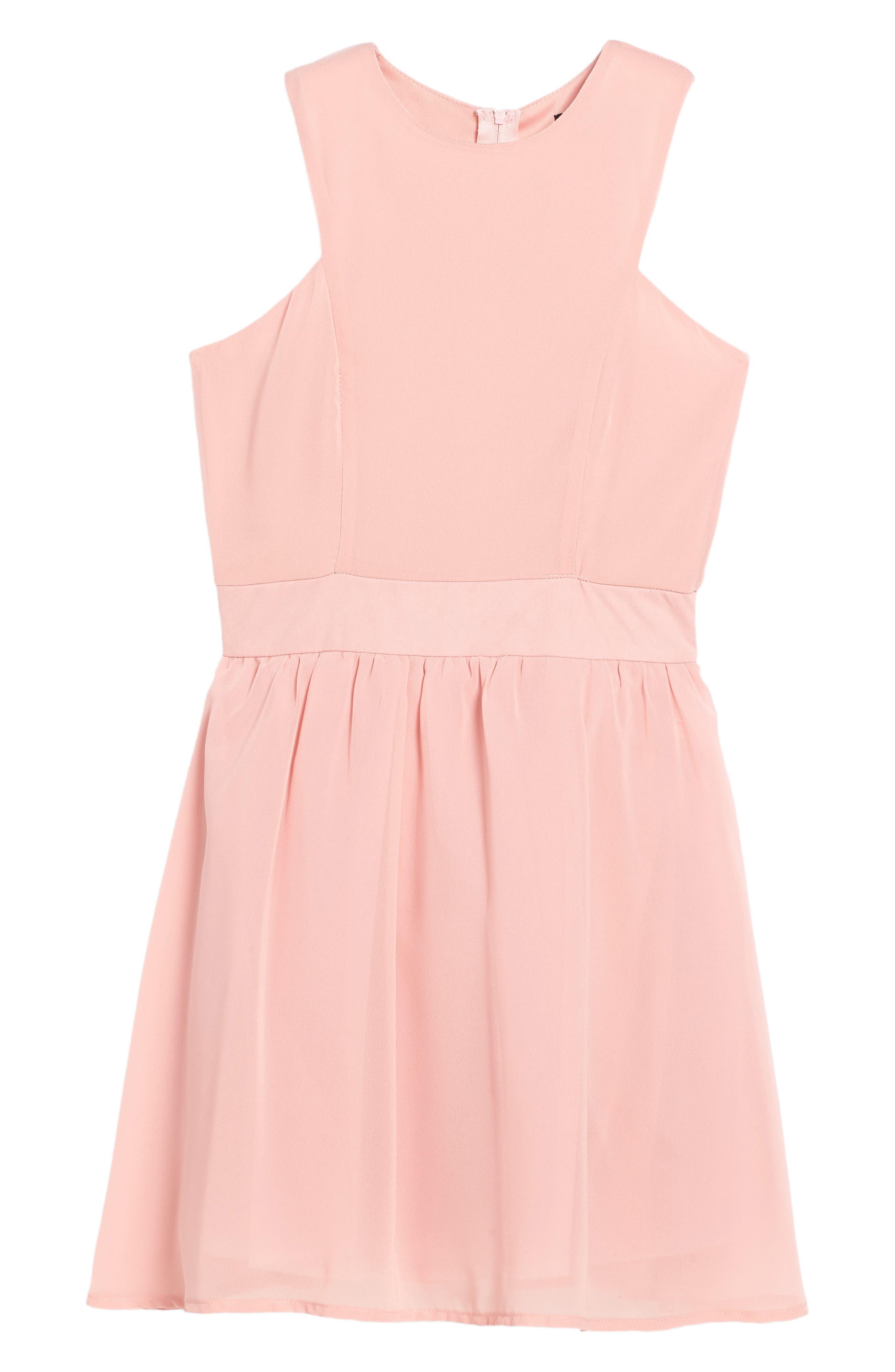 Camilla Sleeveless Dress,                         Main,                         color, Pink