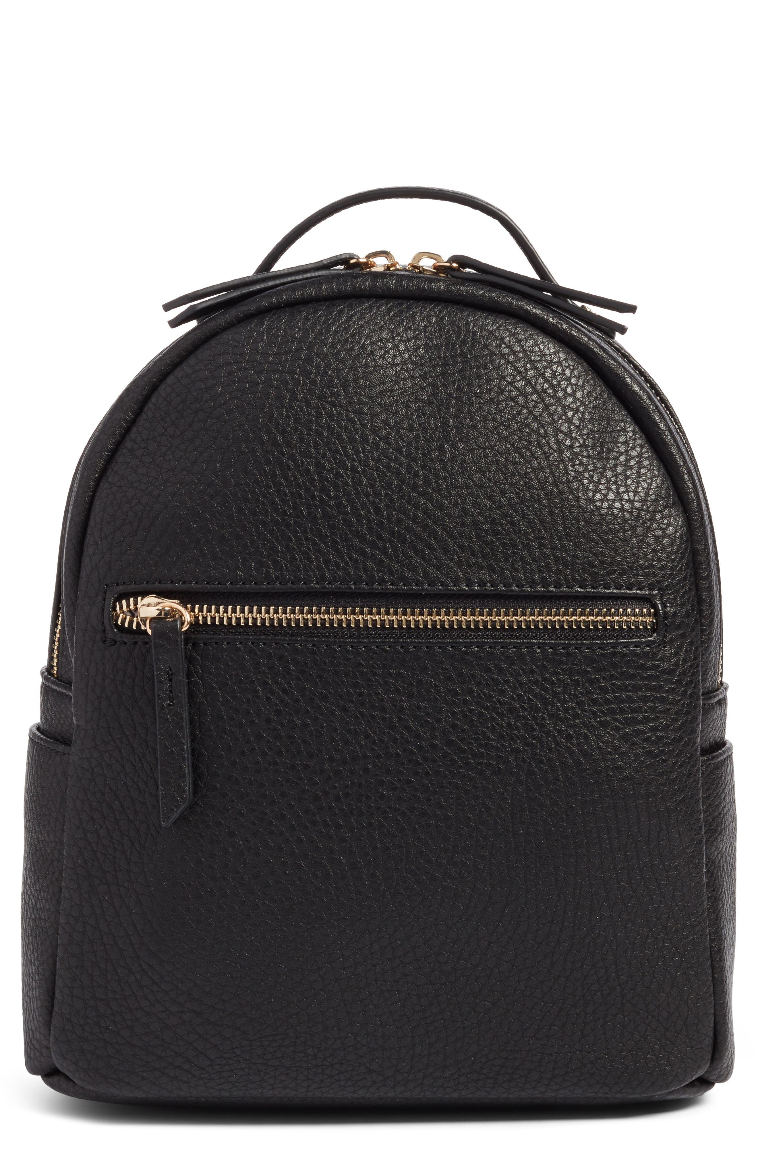 Alternate Image 1 Selected - Mali + Lili Faux Leather Backpack